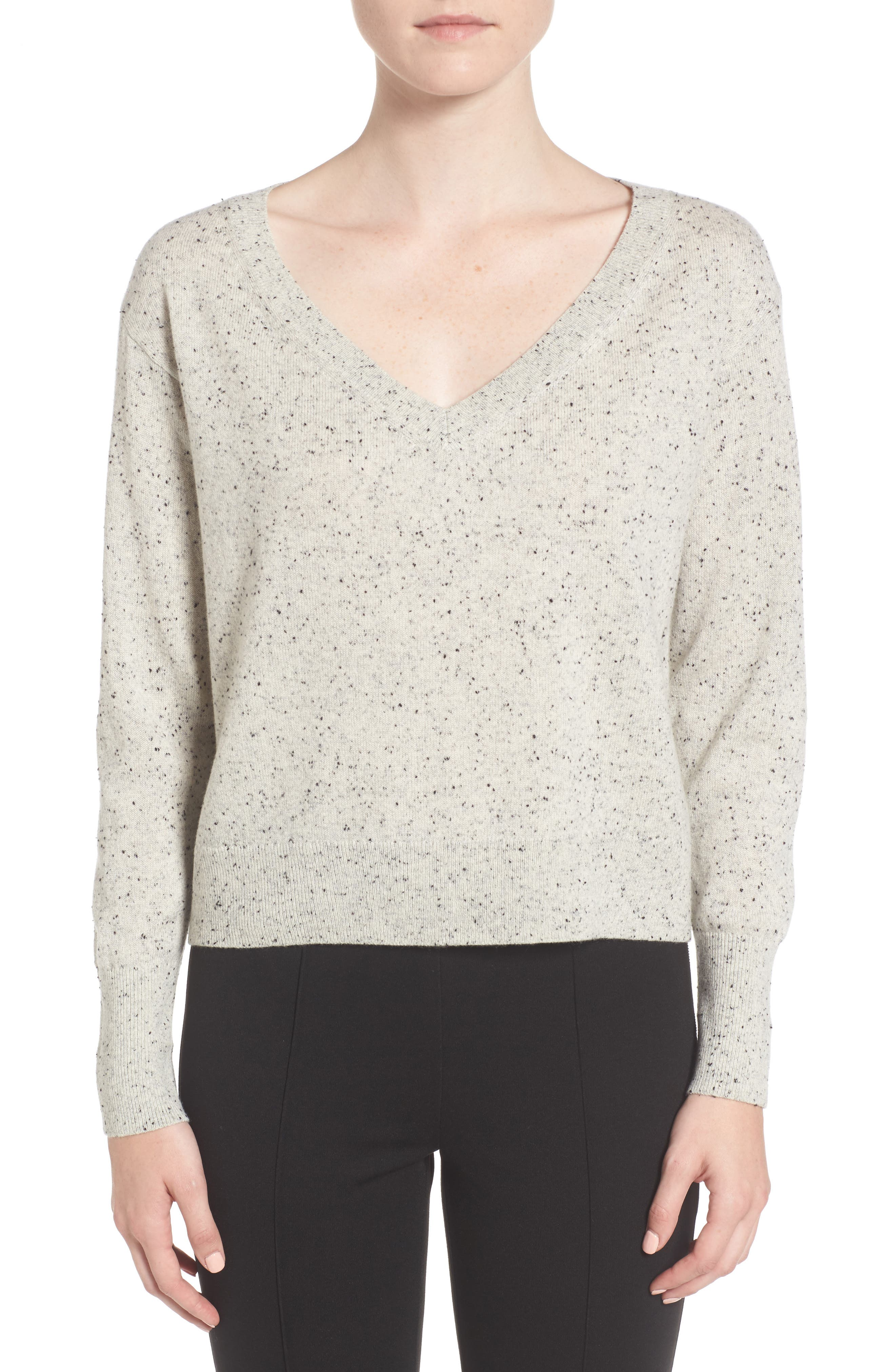 Everlane The Cashmere Crop V-Neck Sweater