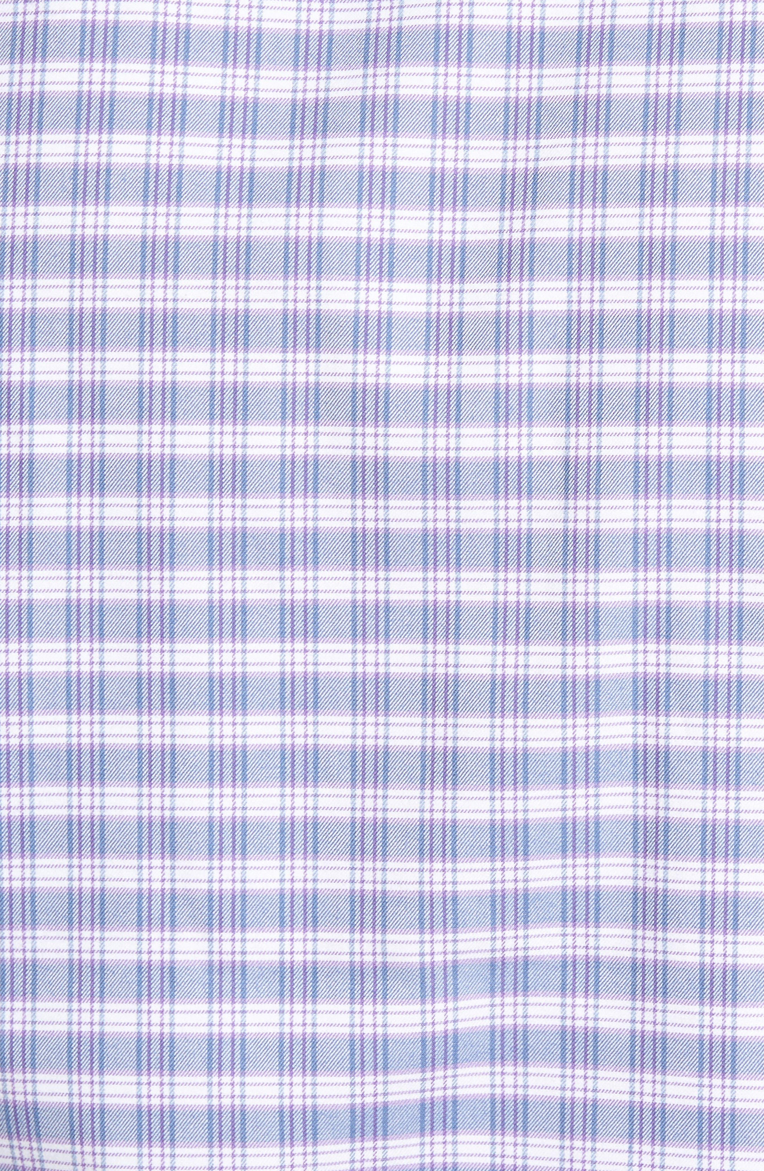 Check Regular Fit Sport Shirt,                             Alternate thumbnail 5, color,                             Blue/ Purple