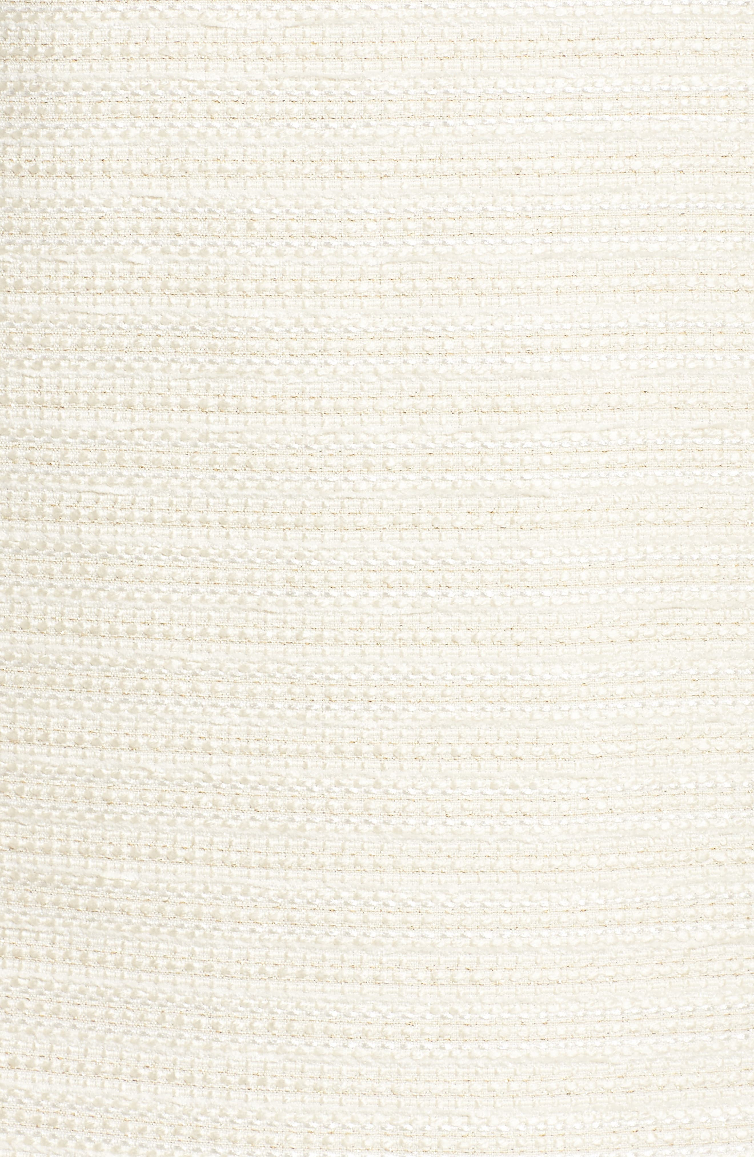 Fringed Tweed Shift Dress,                             Alternate thumbnail 5, color,                             Ivory Gold