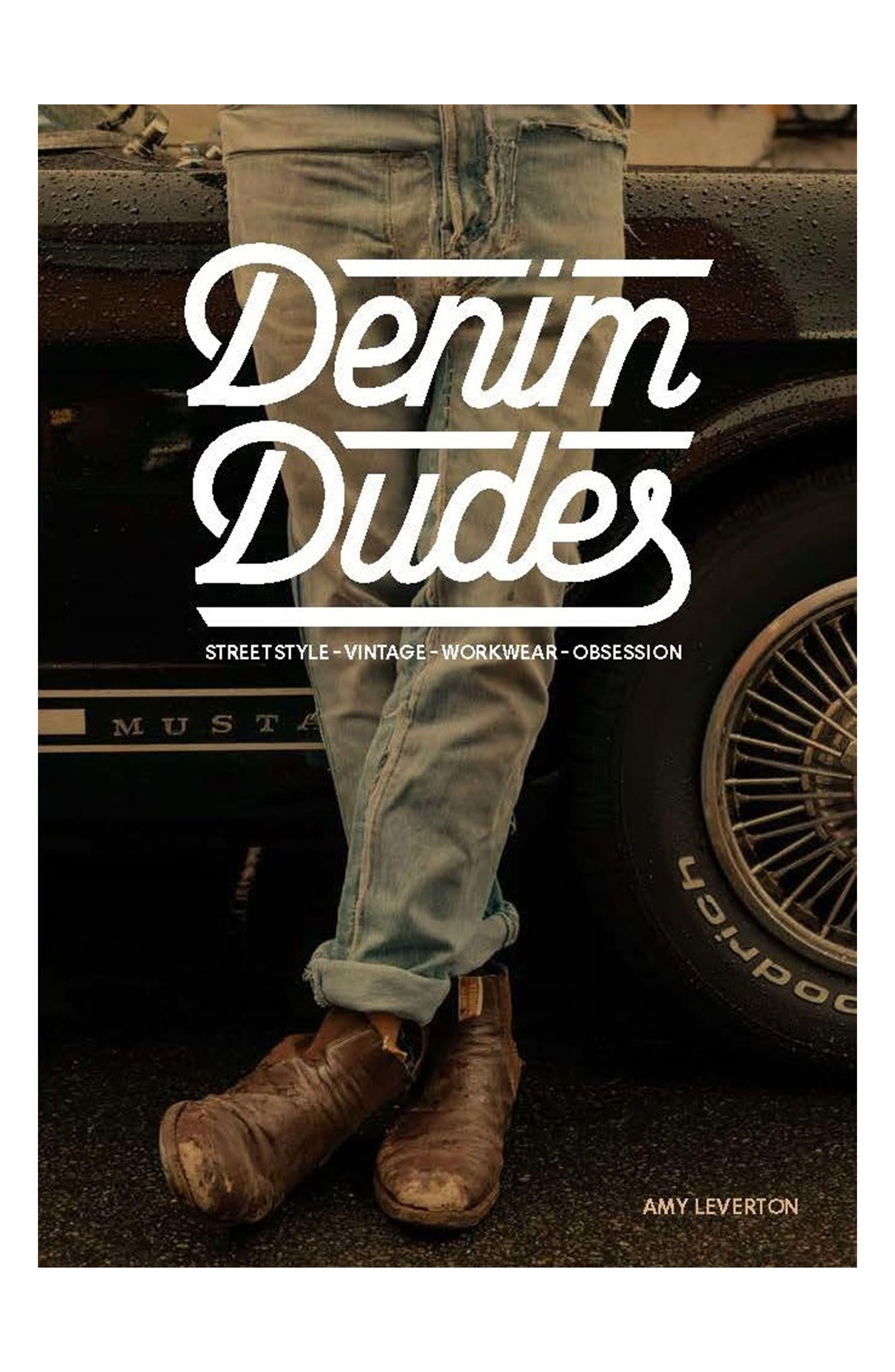 Denim Dudes Book,                             Main thumbnail 1, color,                             Black