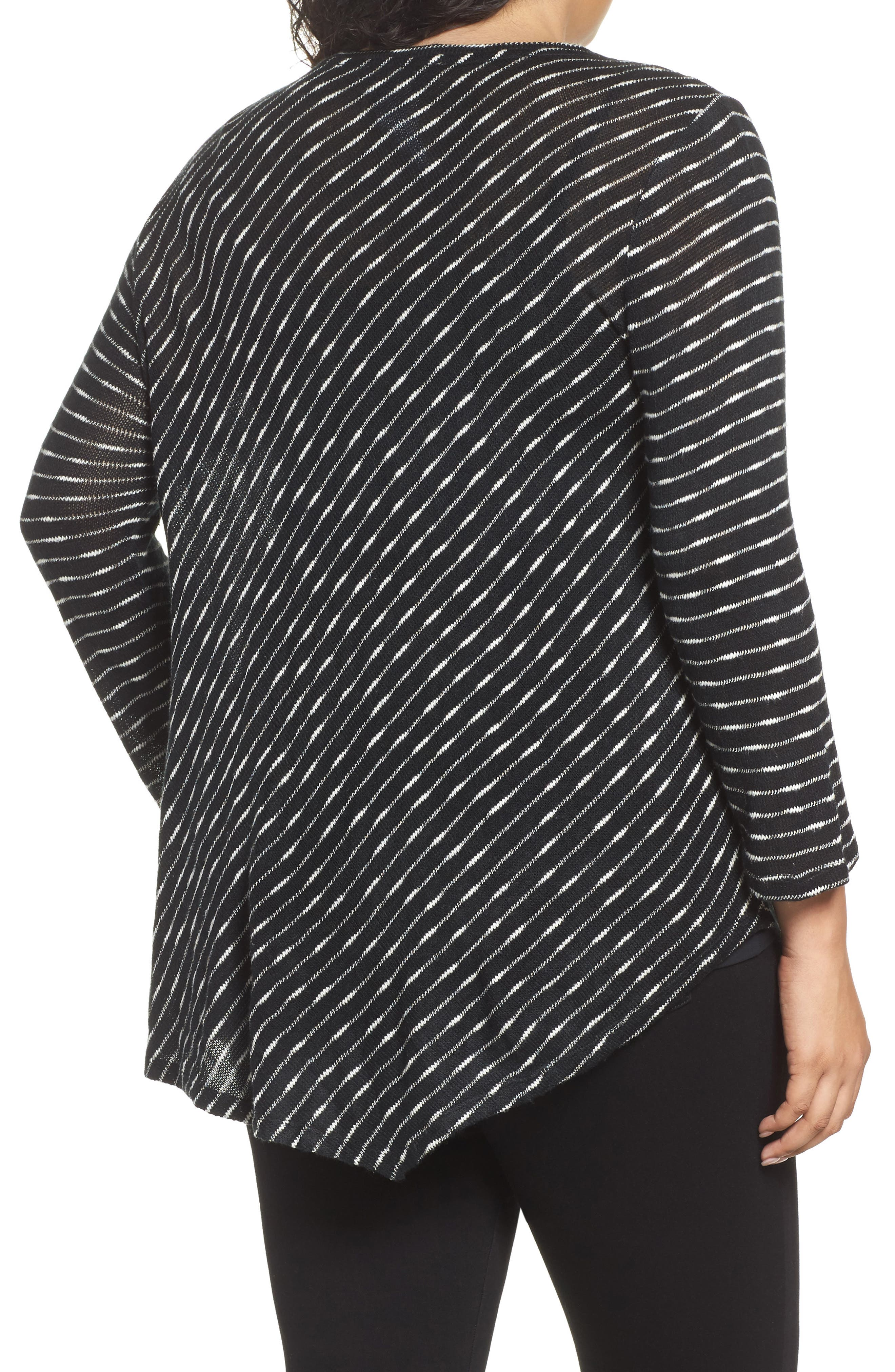 Alternate Image 2  - Two by Vince Camuto Asymmetrical Stripe Knit Top