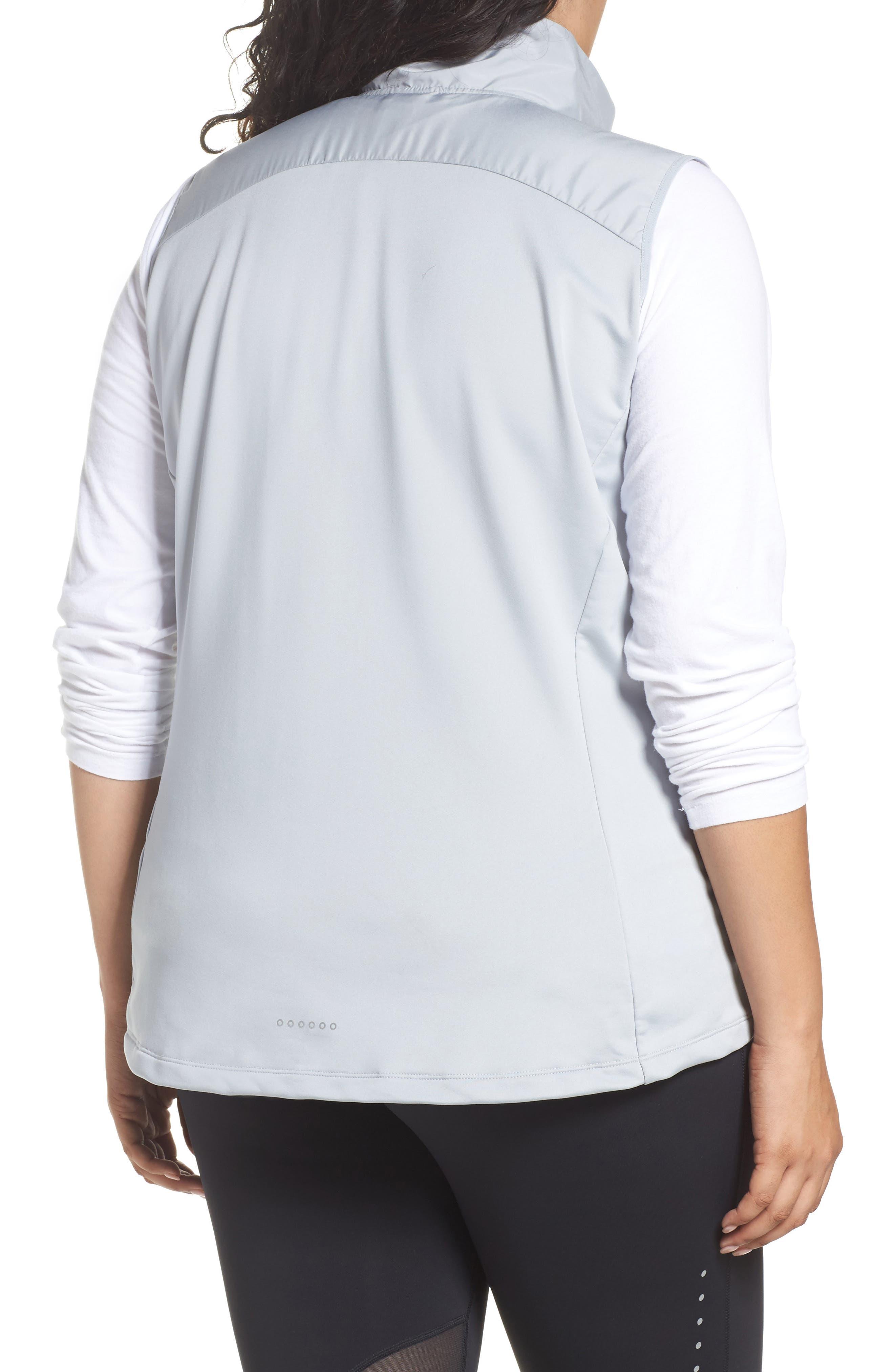 Essentials Running Vest,                             Alternate thumbnail 2, color,                             Wolf Grey/ Metallic Silver