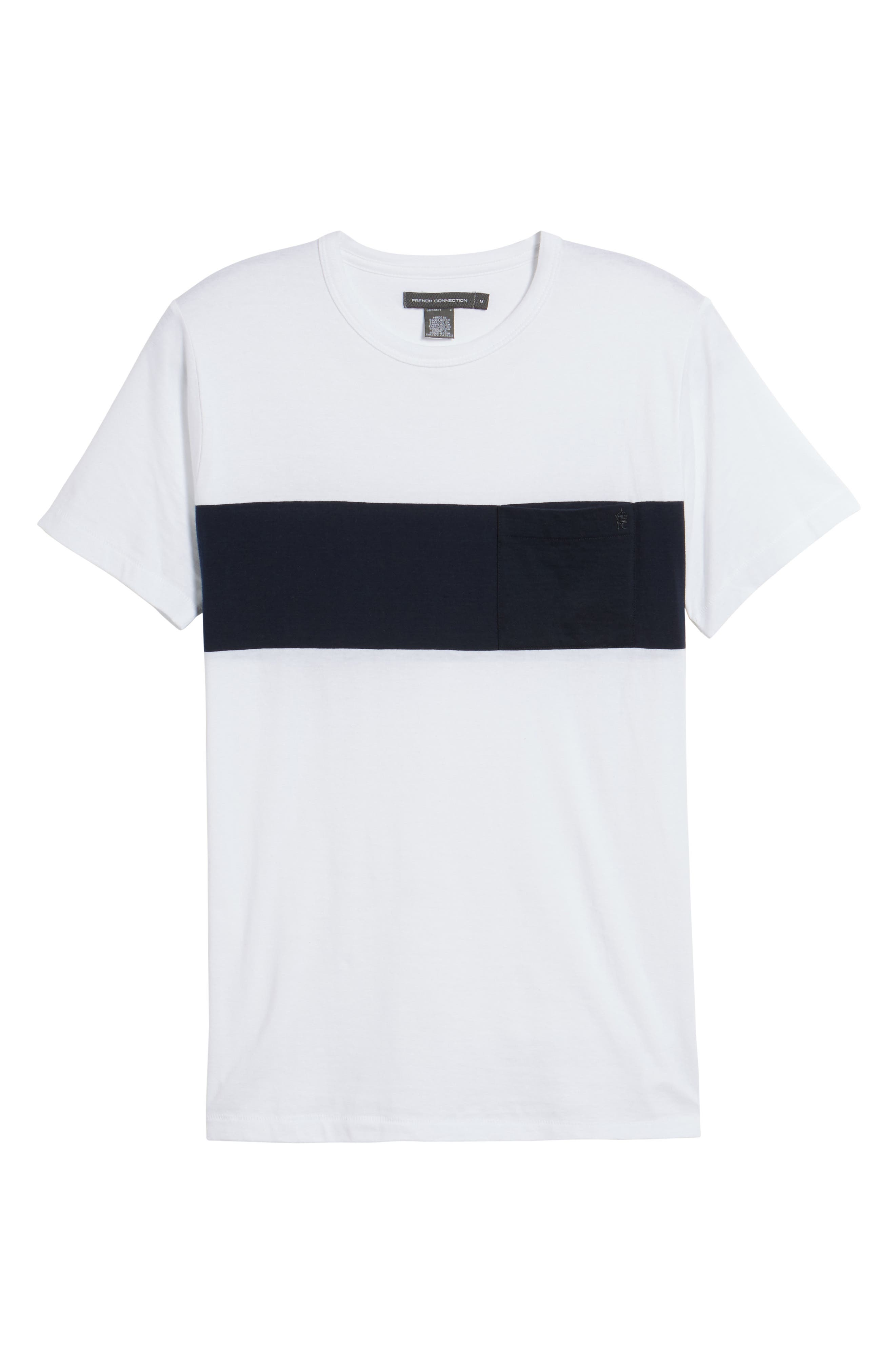 Colorblock Pocket T-Shirt,                             Alternate thumbnail 6, color,                             White/ Marine