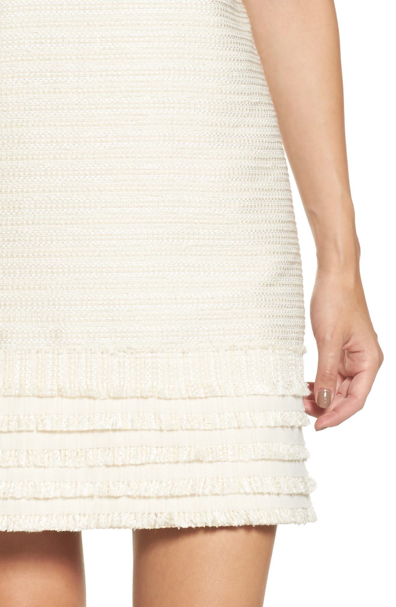Alternate Image 4  - Vince Camuto Fringed Tweed Shift Dress (Regular & Petite)