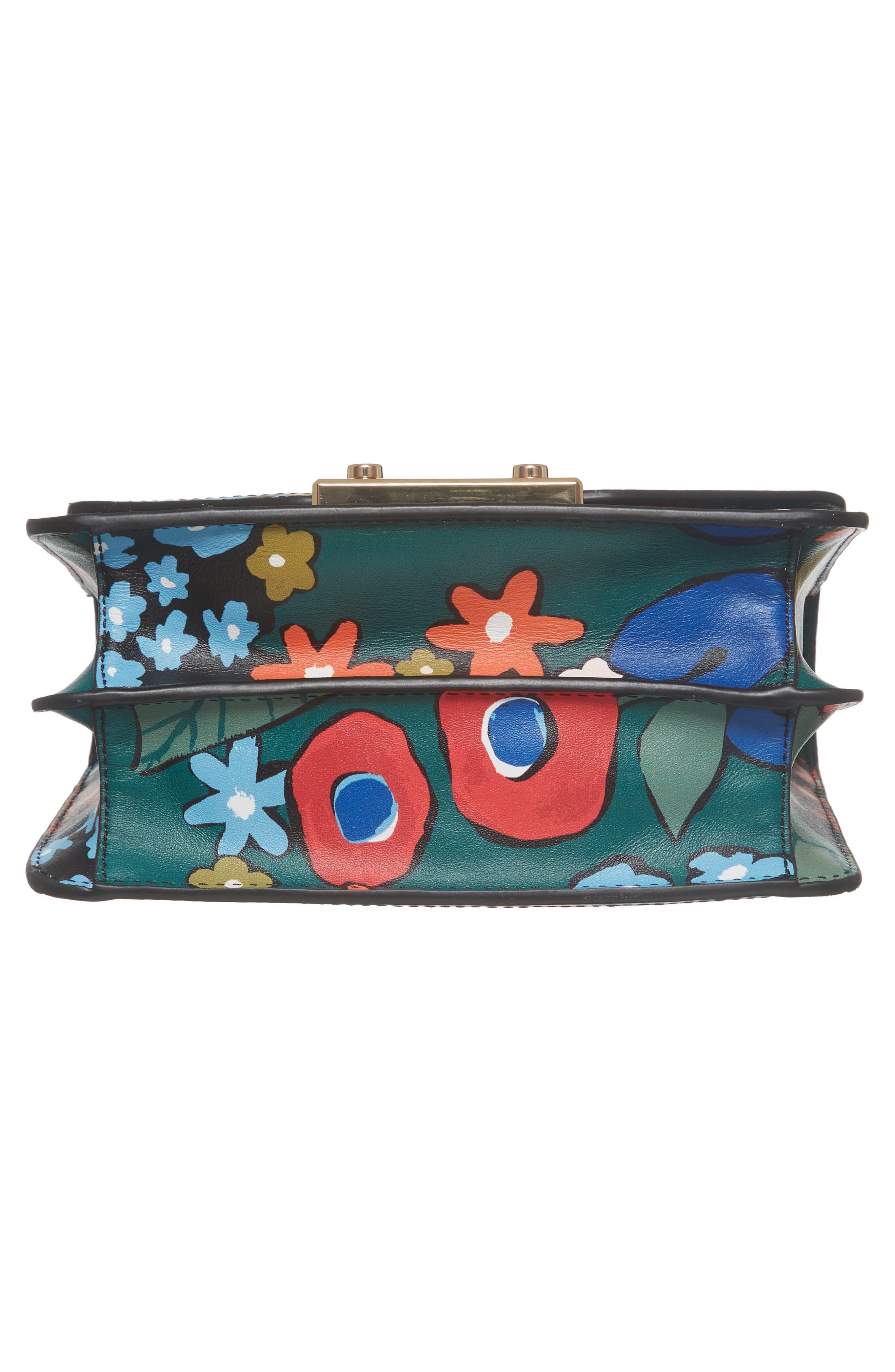 Mini Juliette Leather Top Handle Satchel,                             Alternate thumbnail 5, color,                             Darling Floral
