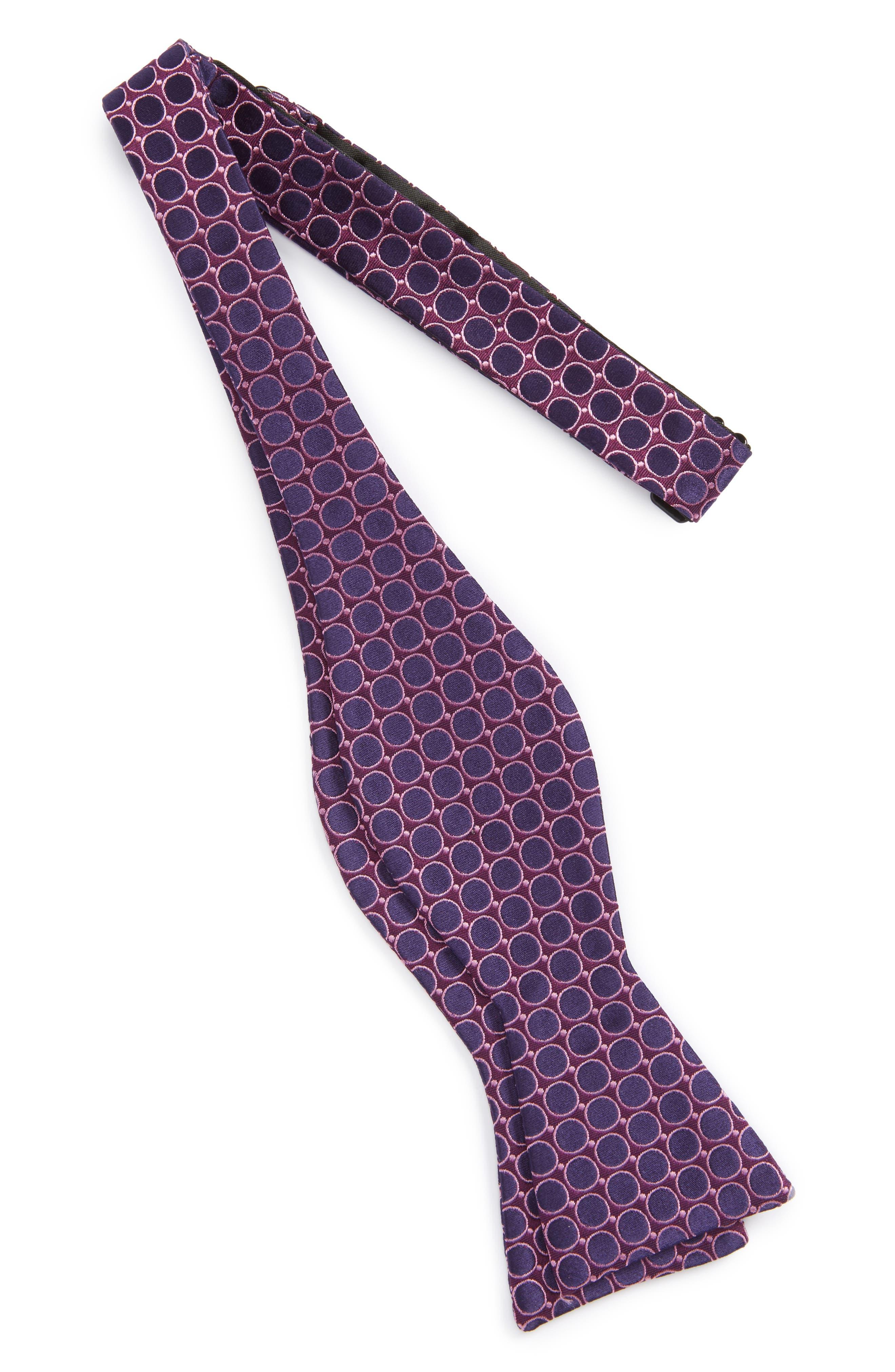 Calibrate Bubble Dot Silk Bow Tie