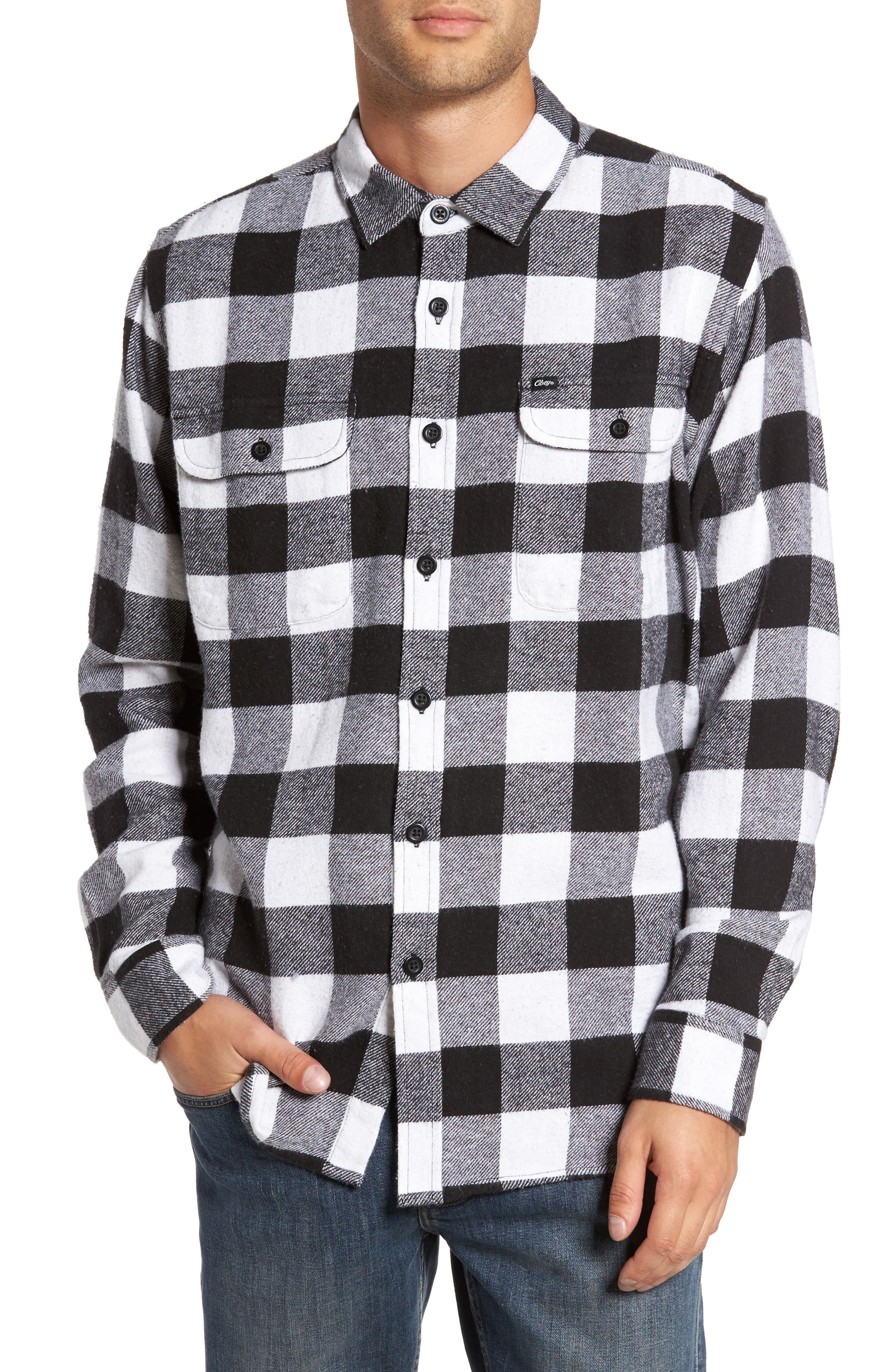 Alternate Image 1 Selected - Obey Trent Check Woven Shirt