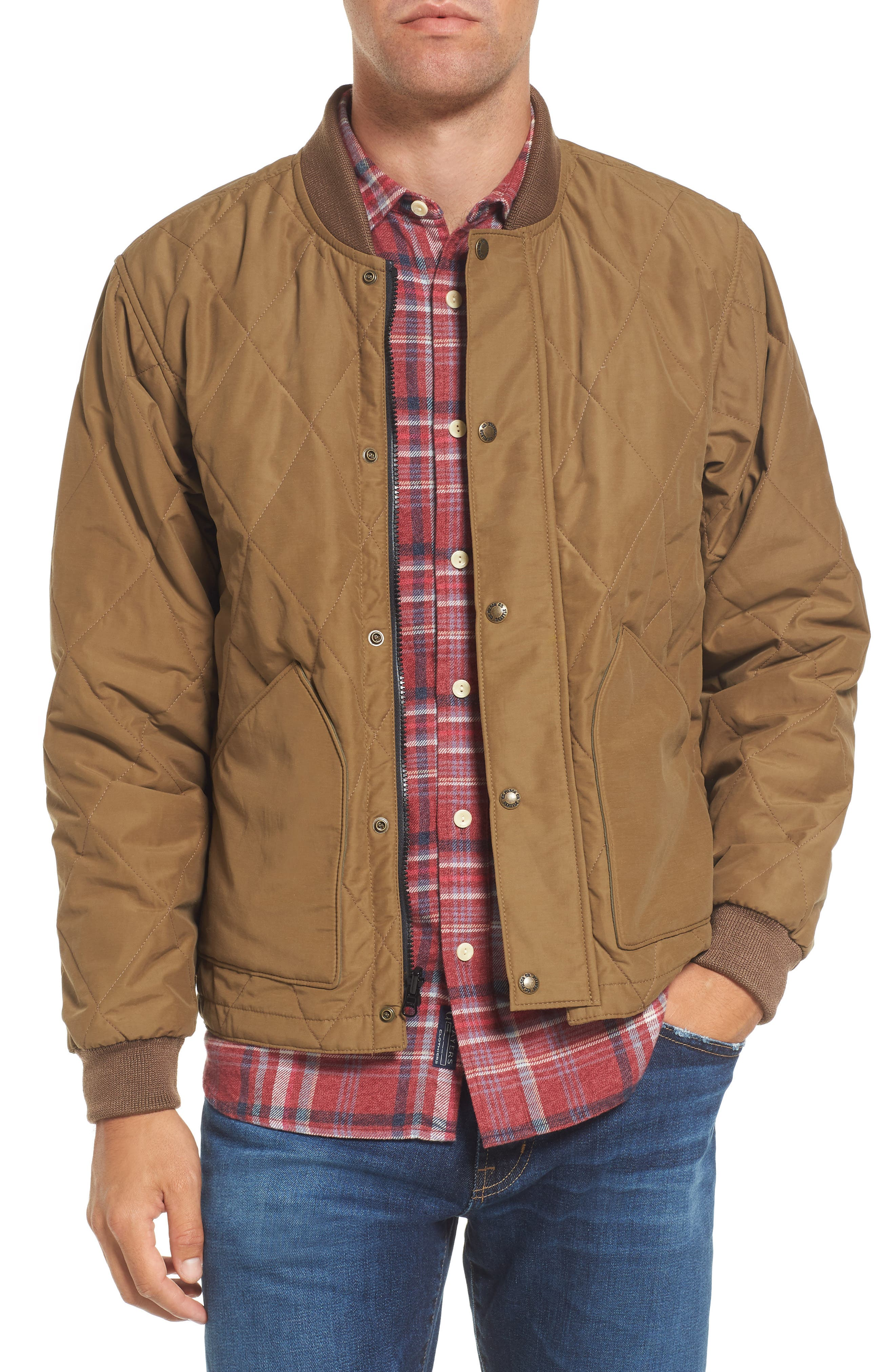 Quilted Pack Water-Resistant Jacket,                         Main,                         color, Sportsman Tan