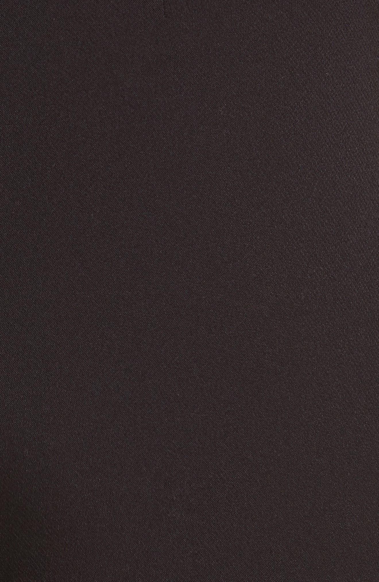 Marin Embroidered Leggings,                             Alternate thumbnail 6, color,                             Black/ Silver/ Sunshower