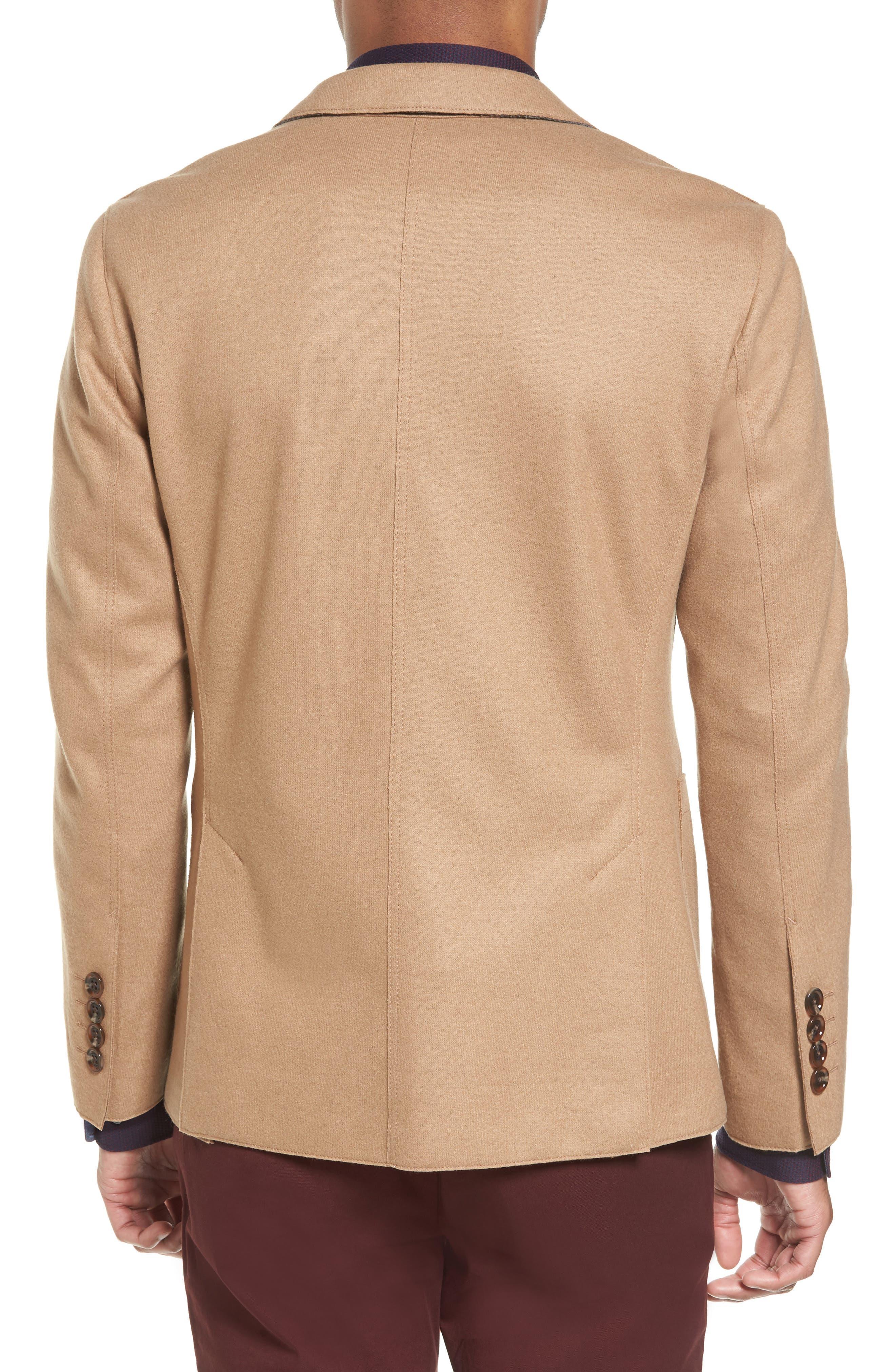 Nordin Trim Fit Virgin Wool Sport Coat,                             Alternate thumbnail 2, color,                             Khaki