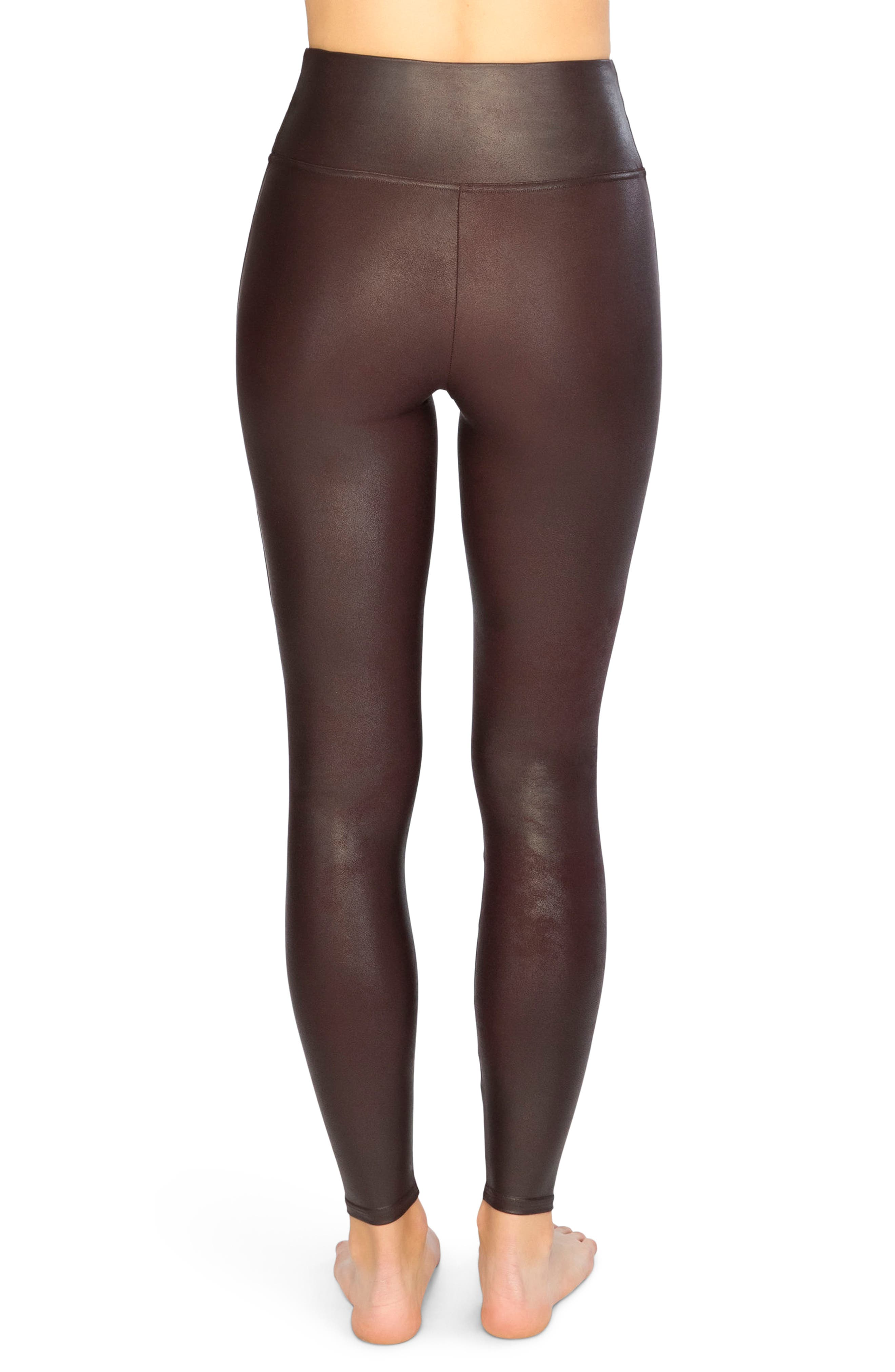Faux Leather Leggings,                             Alternate thumbnail 2, color,                             Wine
