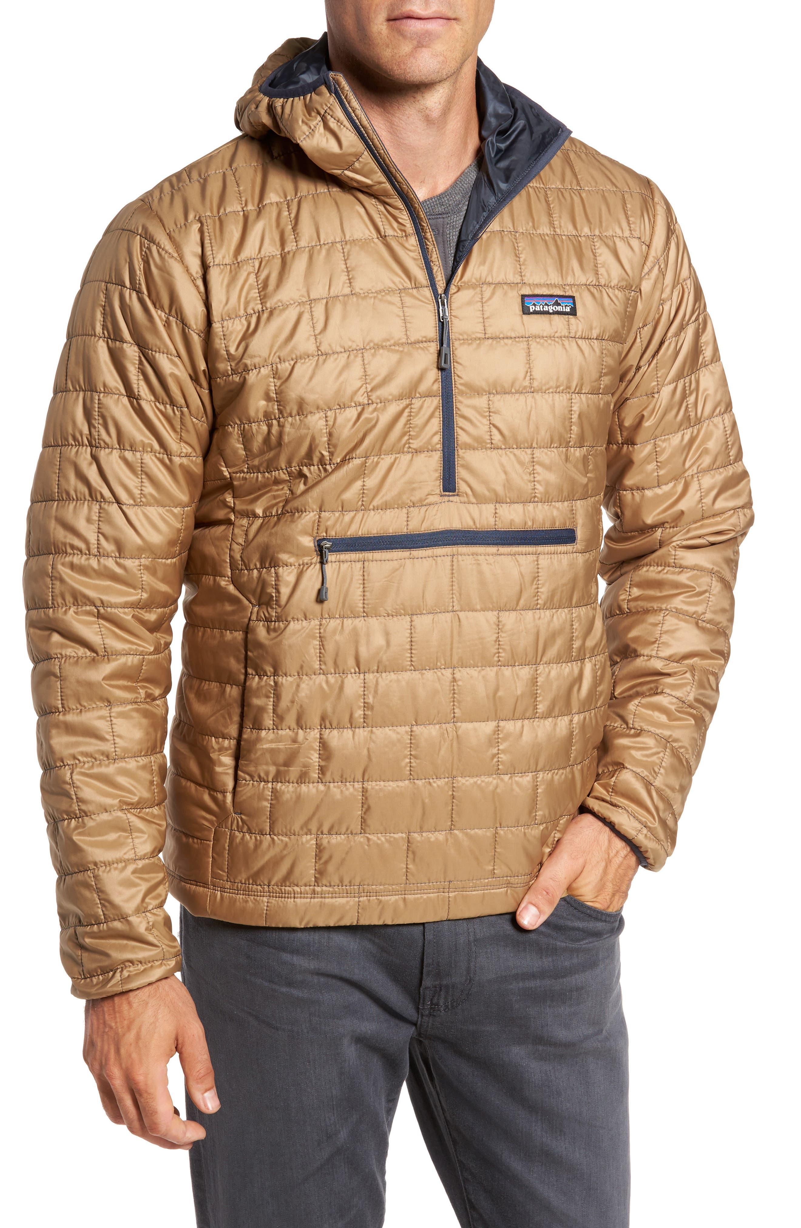 Nano Puff<sup>®</sup> Bivy Regular Fit Water Resistant Jacket,                             Main thumbnail 1, color,                             Mojave Khaki