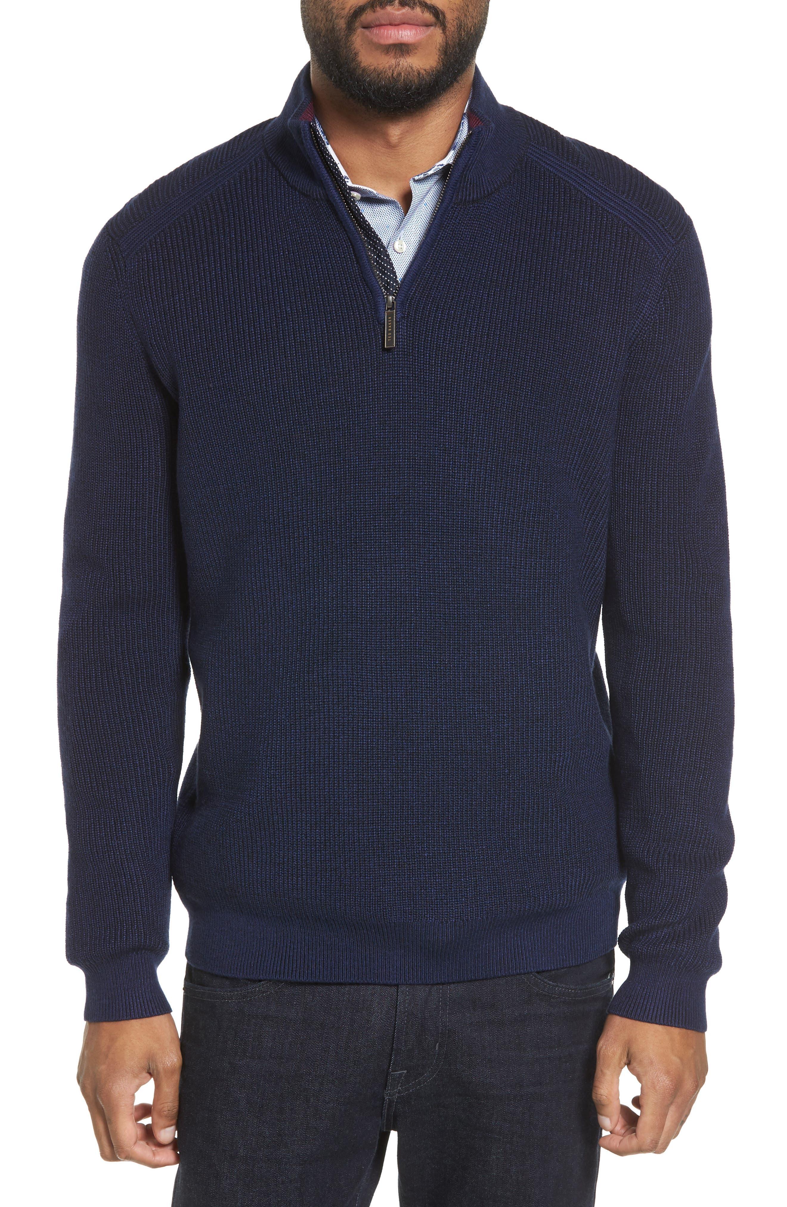 Main Image - Ted Baker London Stach Quarter Zip Sweater
