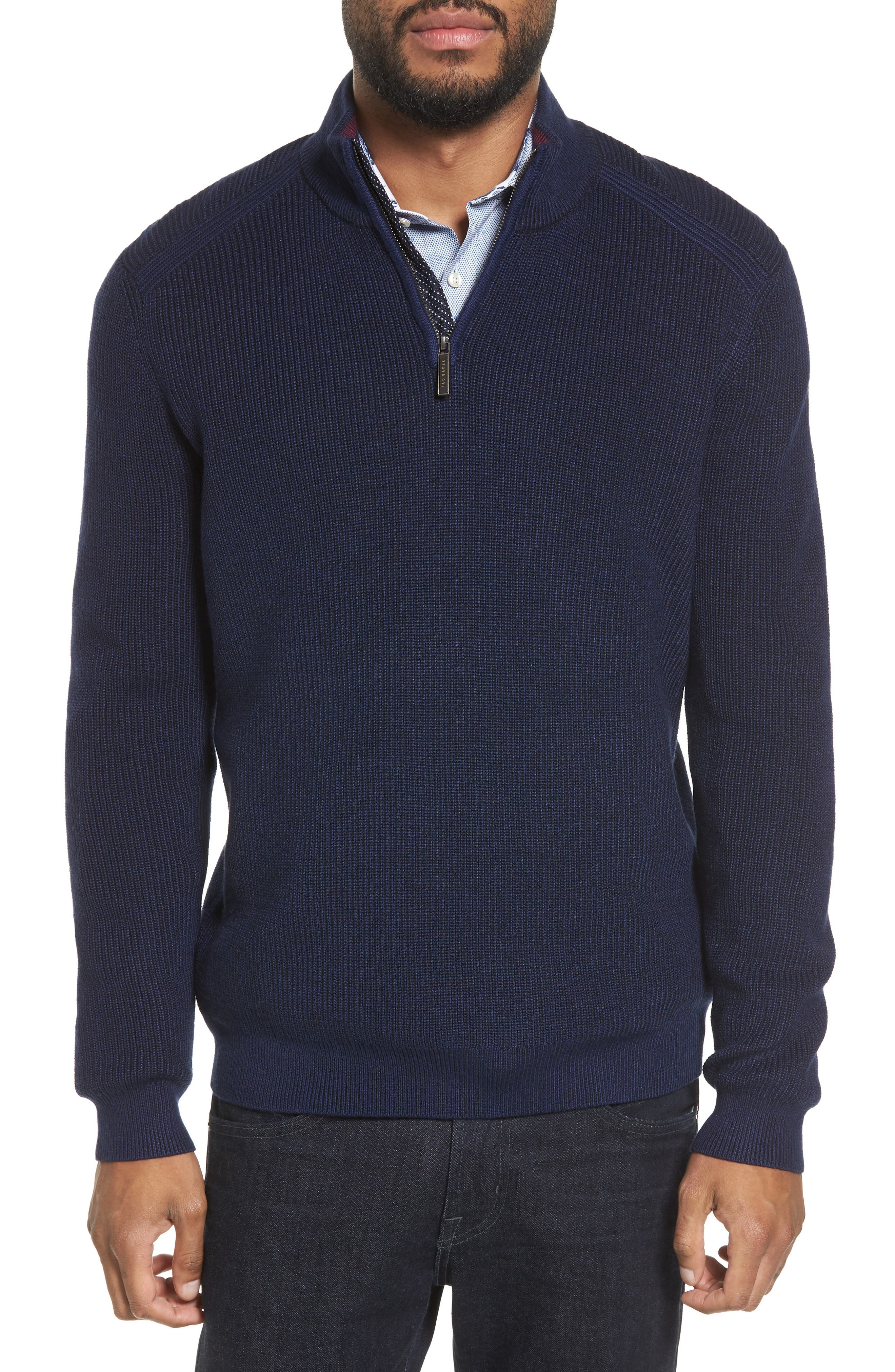 Ted Baker London Stach Quarter Zip Sweater