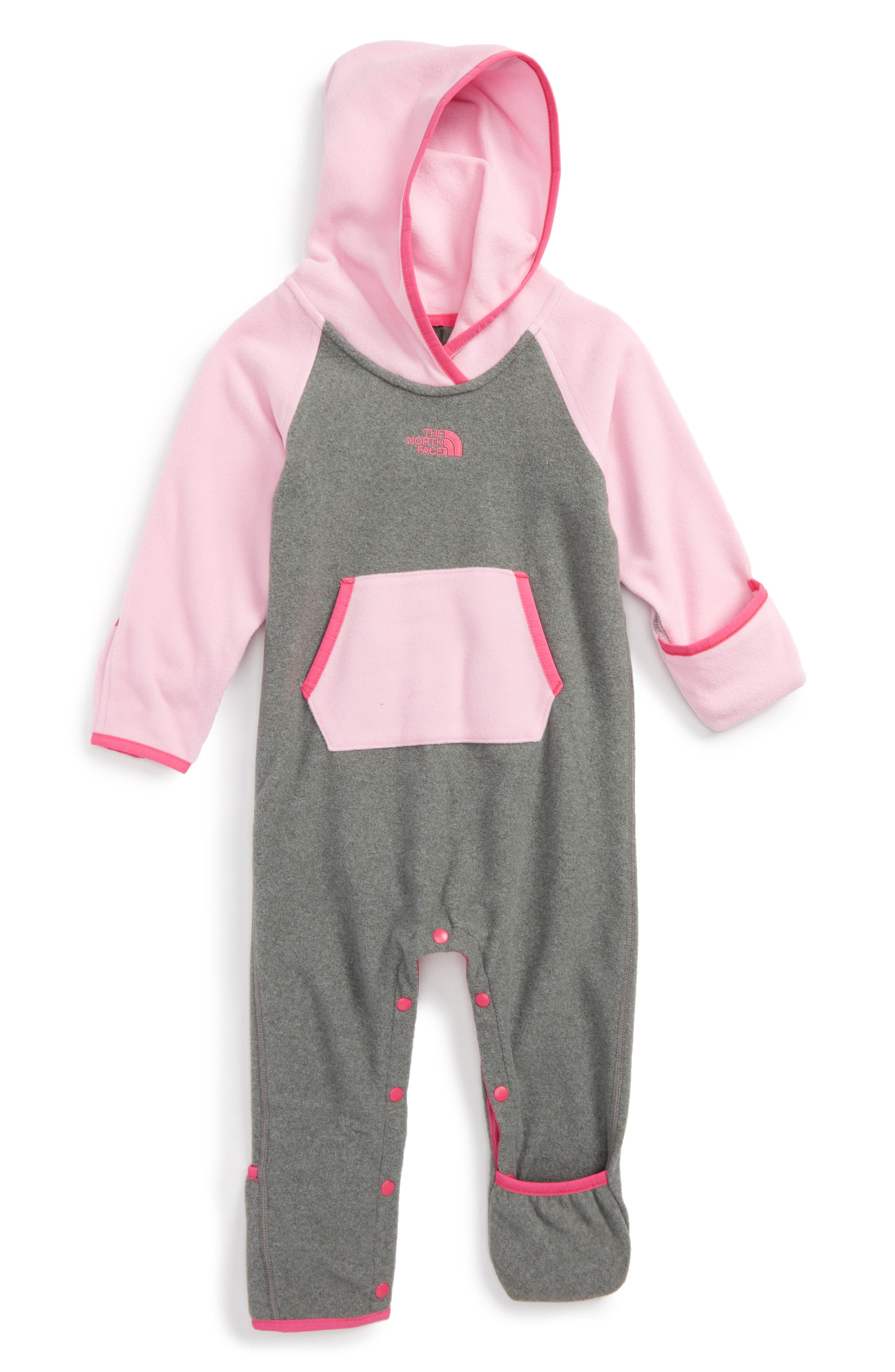 Alternate Image 1 Selected - The North Face 'Glacier' One-Piece (Baby Girls)