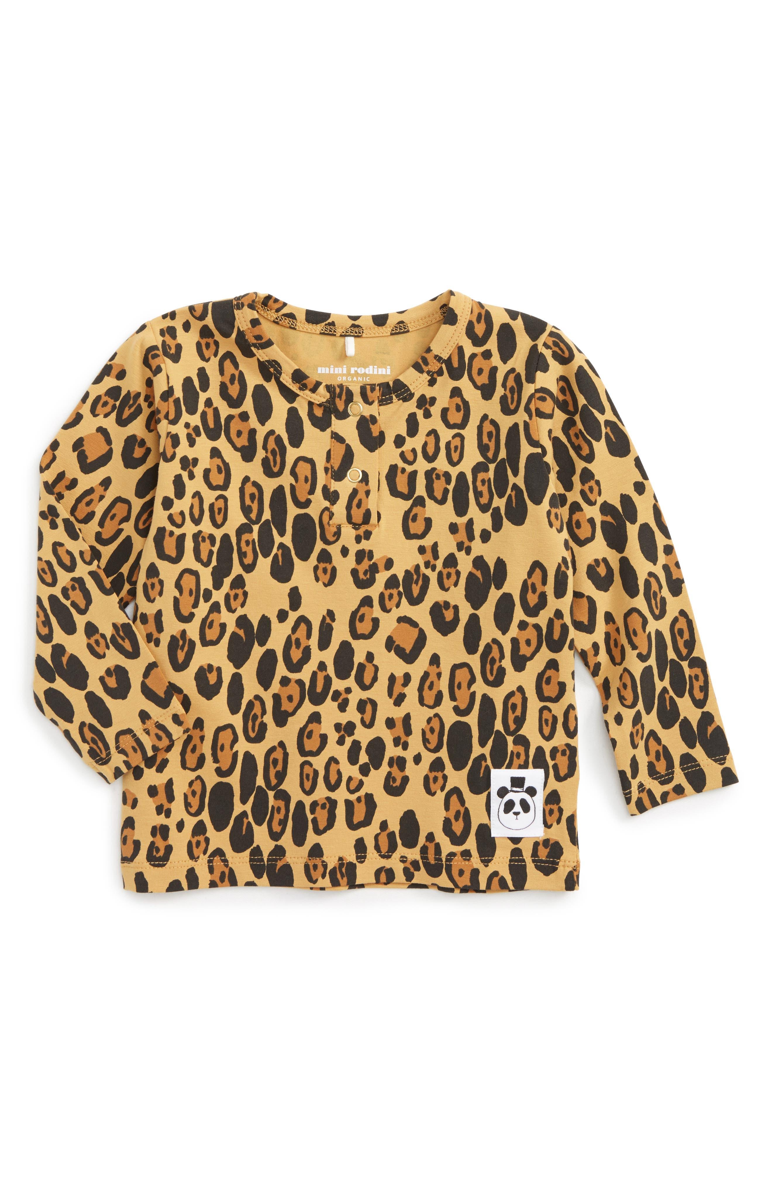 Leopard T-Shirt,                         Main,                         color, Beige
