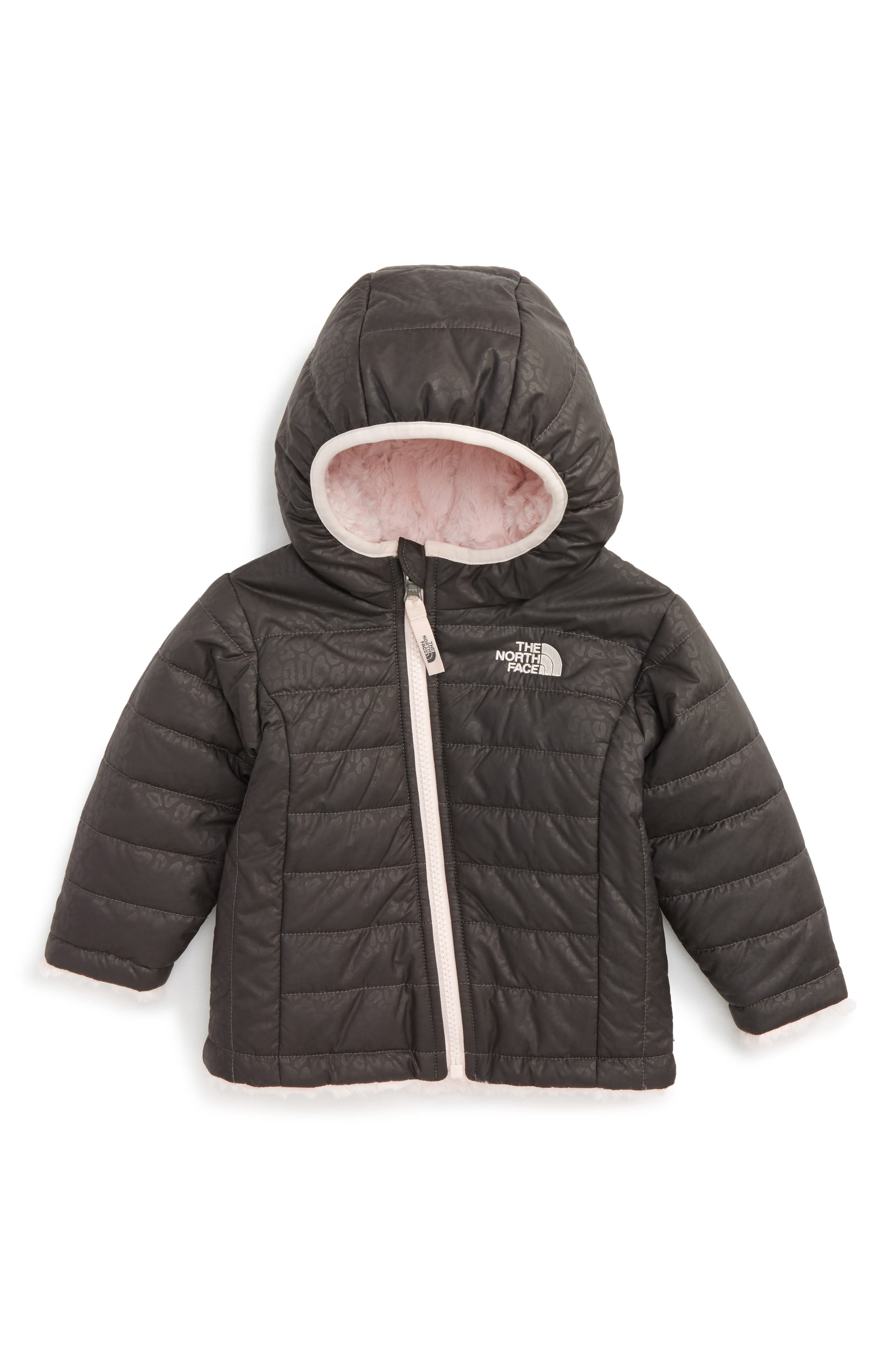 Alternate Image 1 Selected - The North Face Mossbud Swirl Reversible Water Repellent Jacket (Baby Girls)