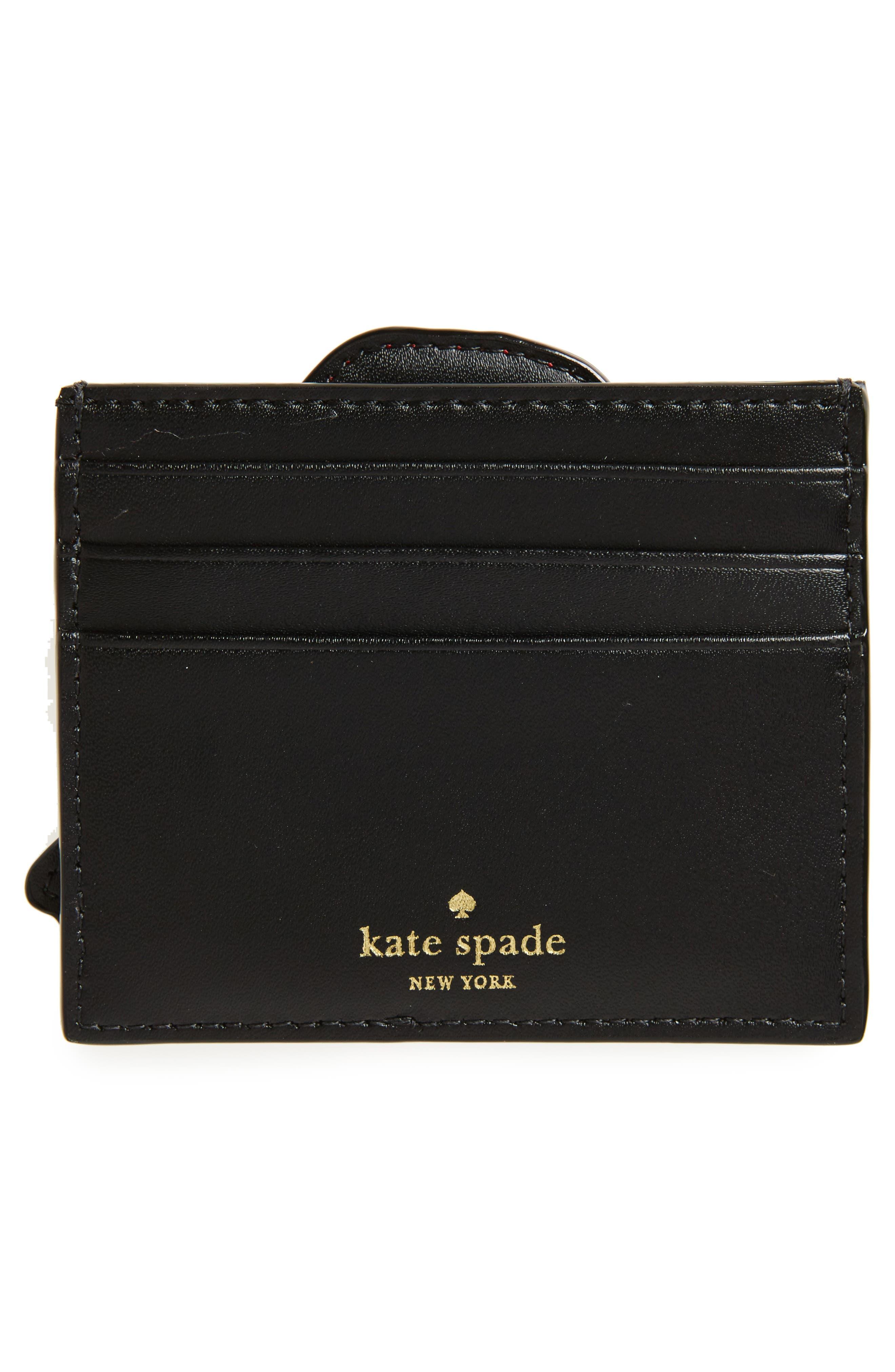 ooh la la poppy leather card holder kate,                             Alternate thumbnail 2, color,                             Multi