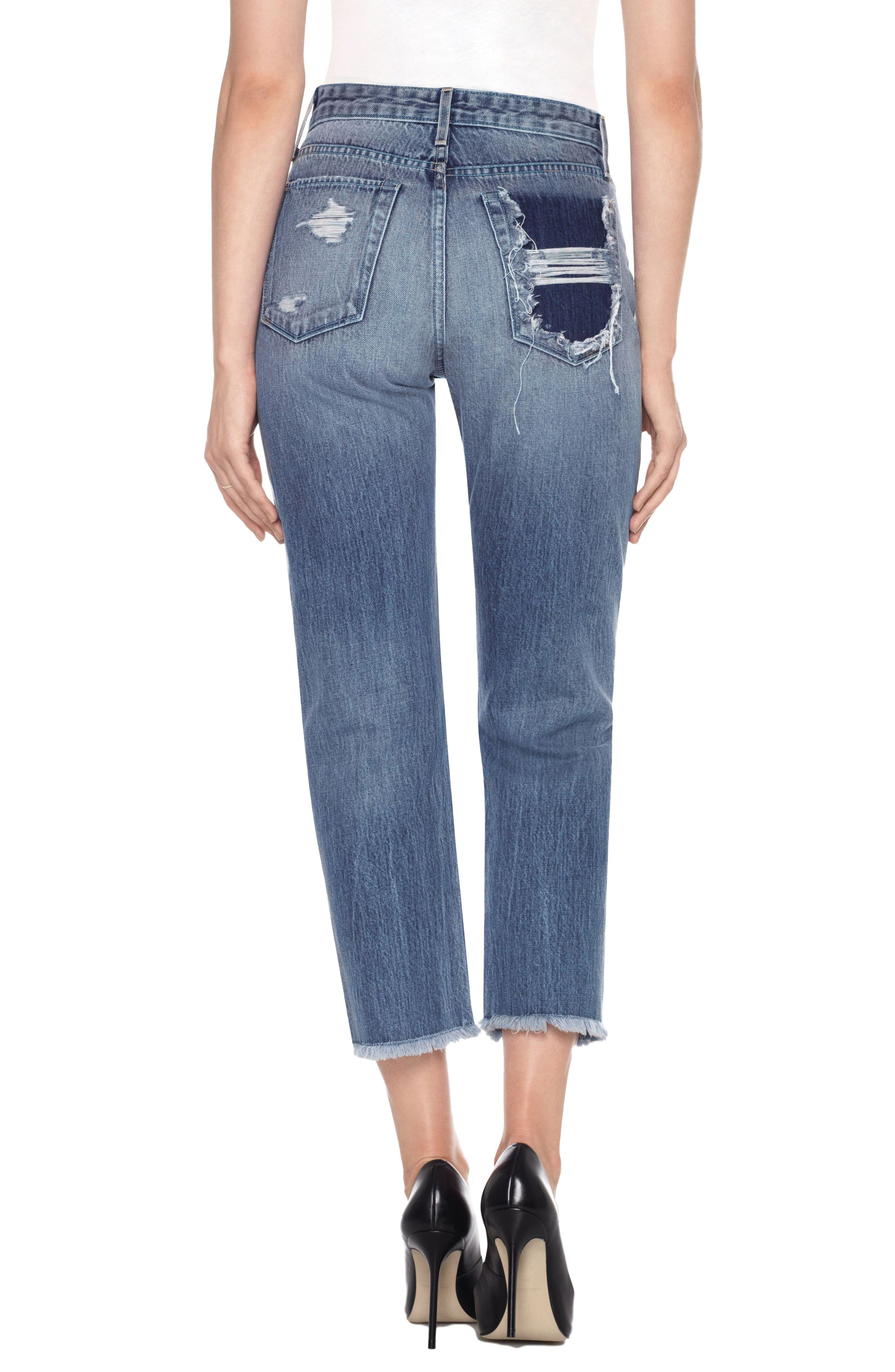 Smith High Waist Crop Boyfriend Jeans,                             Alternate thumbnail 2, color,                             Caryn