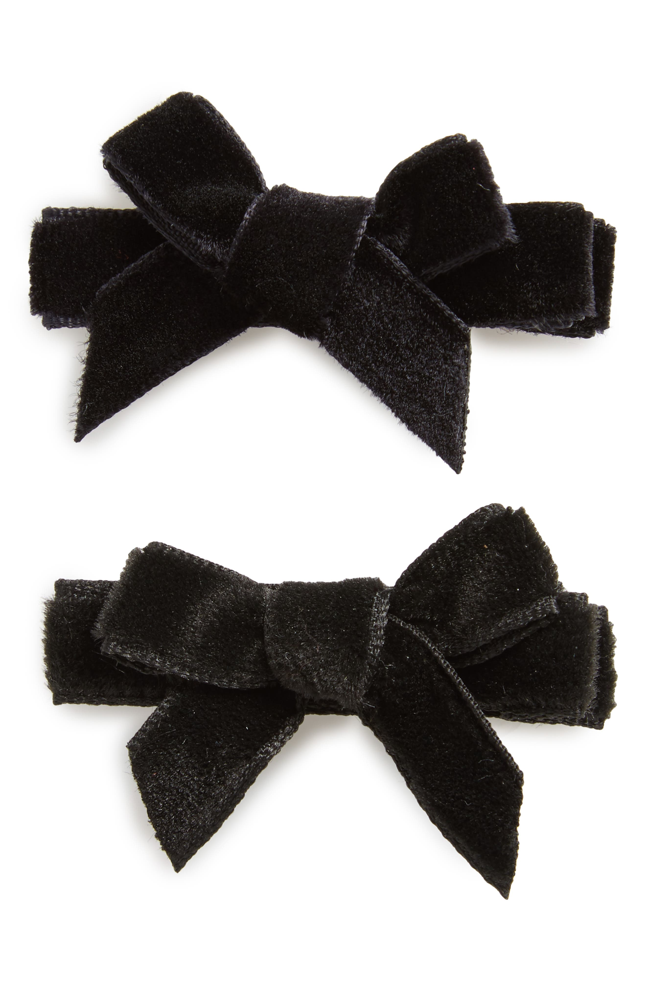 2-Pack Bow Clips,                         Main,                         color, Black