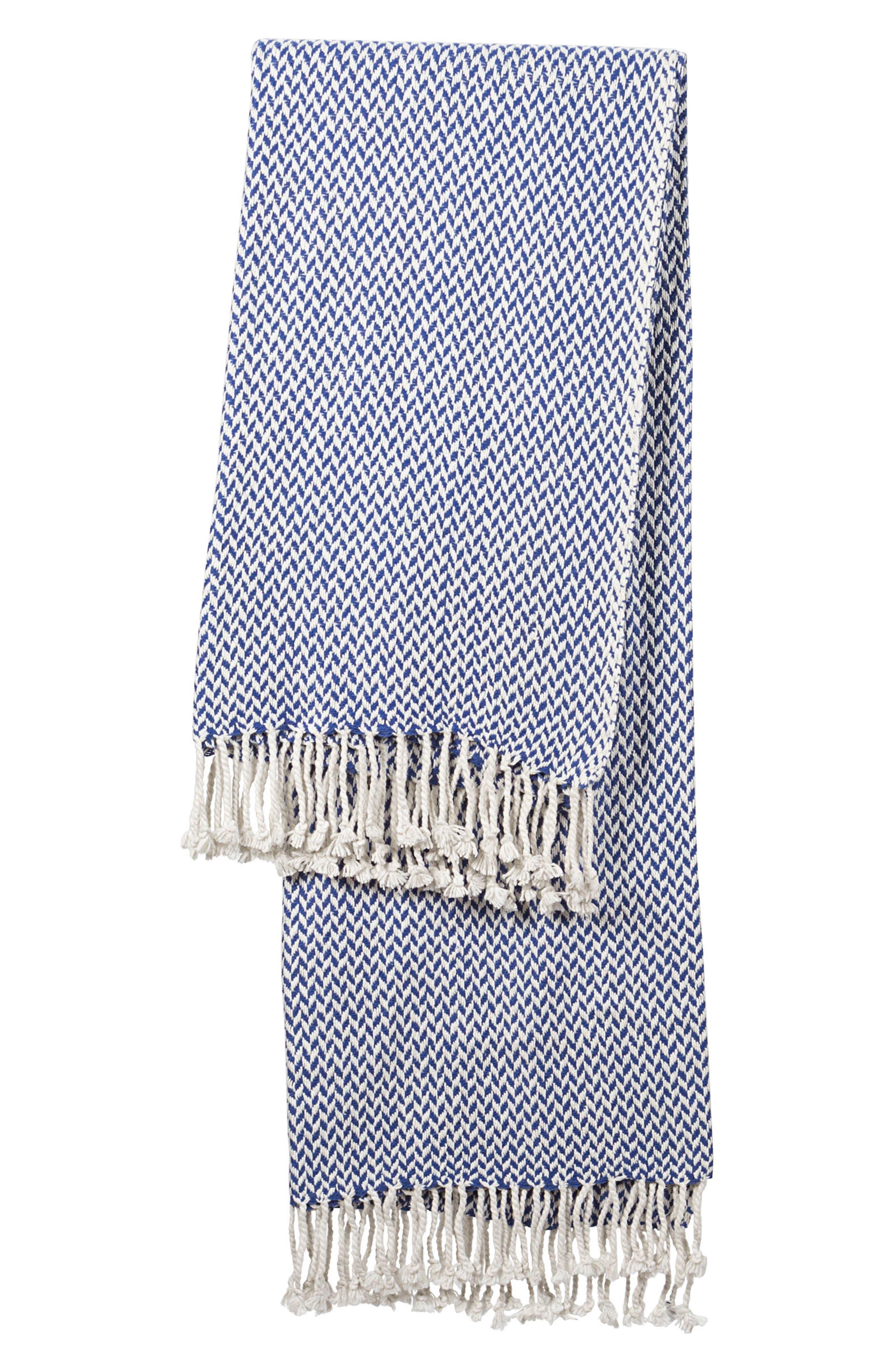 Cathy's Concepts Monogram Herringbone Throw Blanket