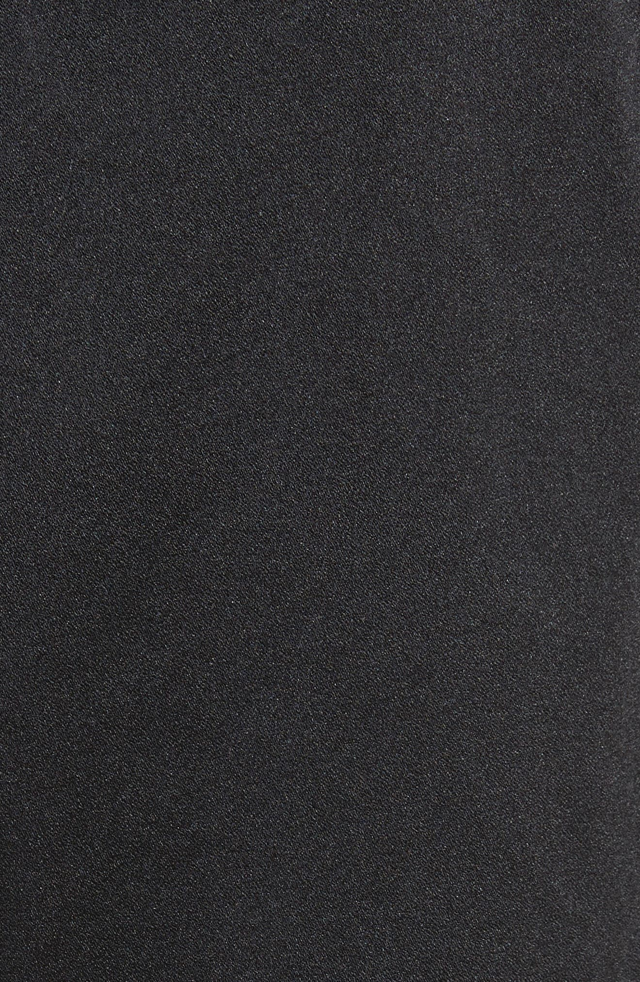 Satin Drawstring Pants,                             Alternate thumbnail 5, color,                             Black