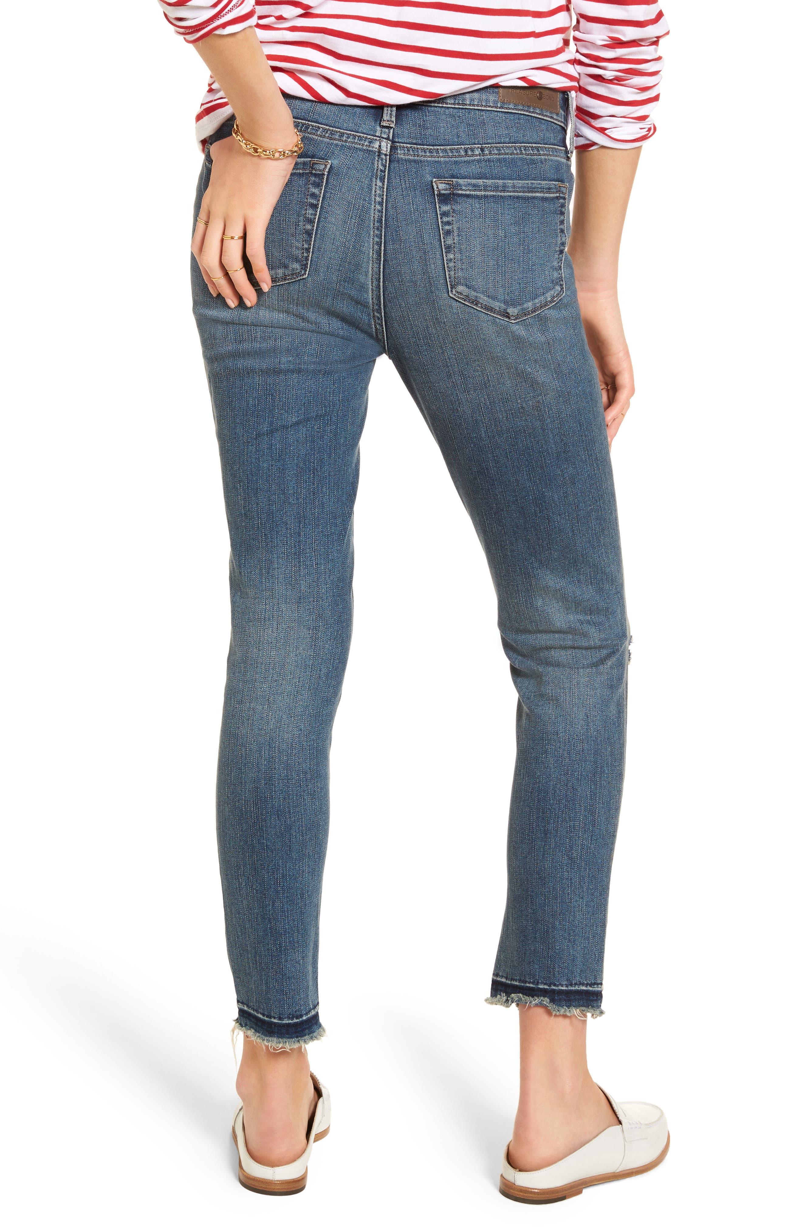 Alternate Image 2  - Treasure & Bond Ankle Skinny Jeans (Rain Dusk Destroy)