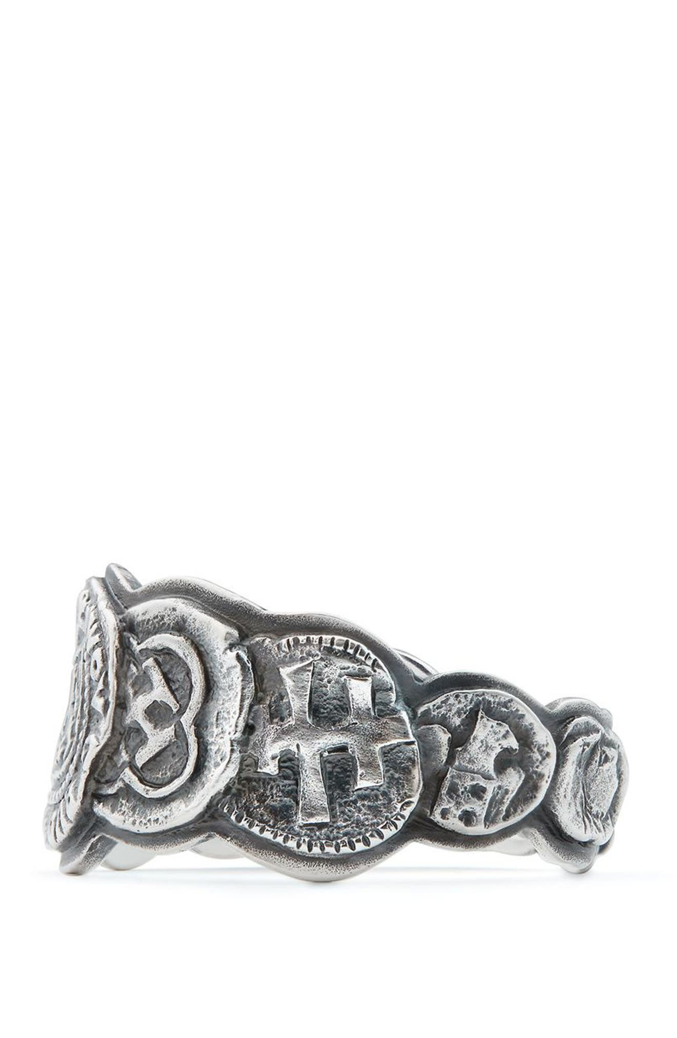 Shipwreck Coin Band Ring, 12mm,                             Alternate thumbnail 2, color,                             Silver