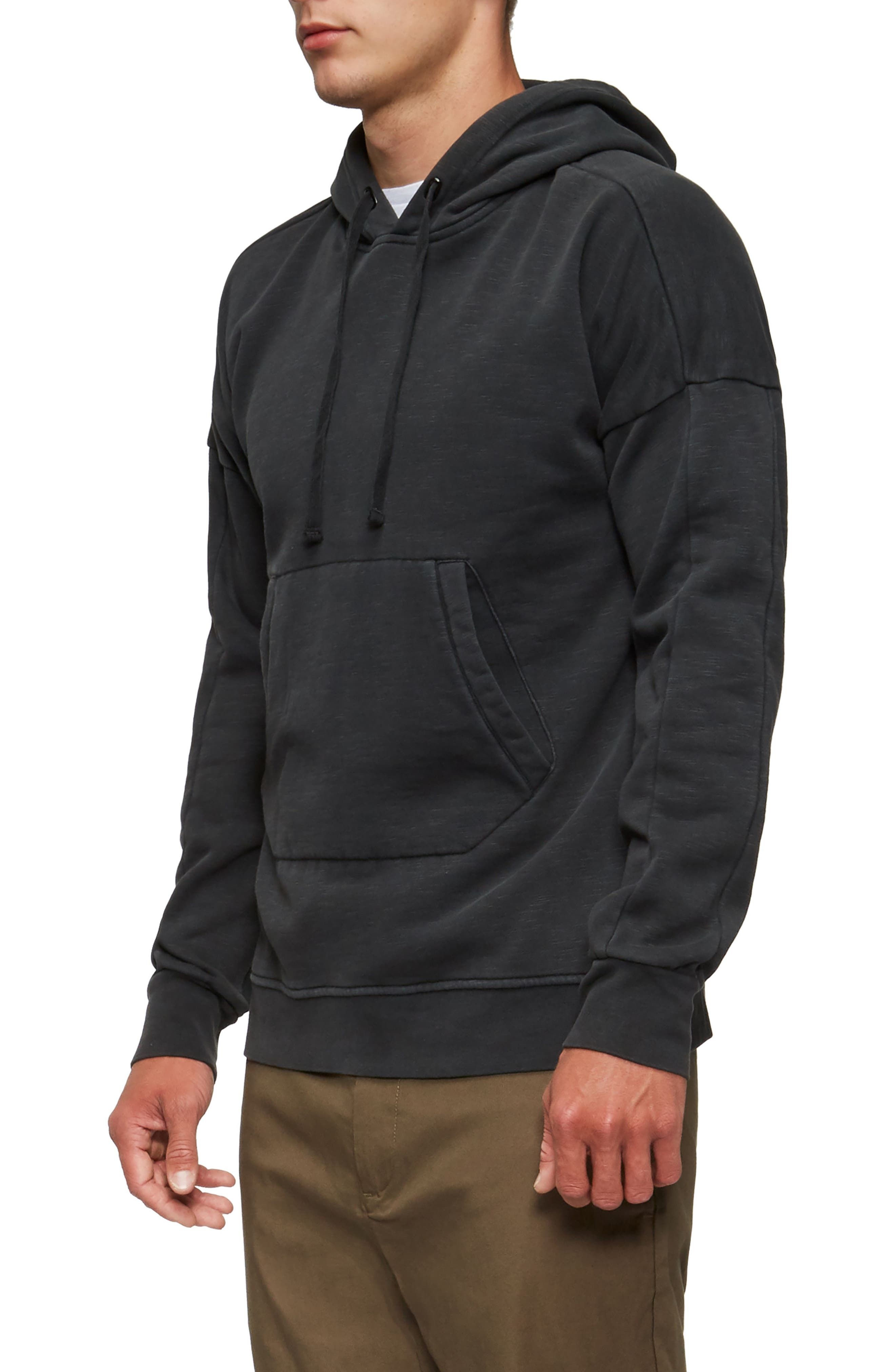 Turf Hooded Sweatshirt,                             Alternate thumbnail 3, color,                             Black