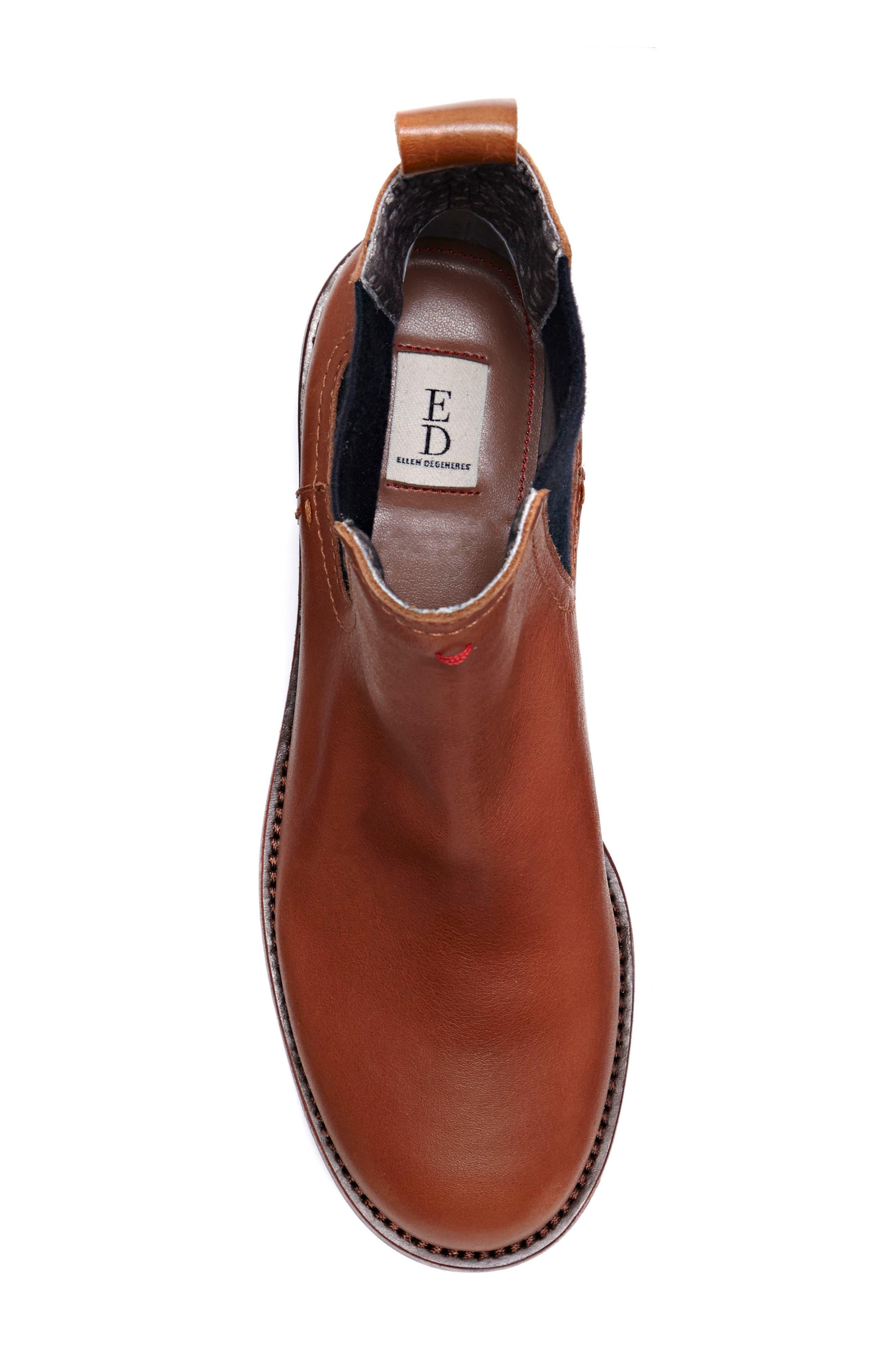 Zabi Chelsea Boot,                             Alternate thumbnail 4, color,                             Yam Leather
