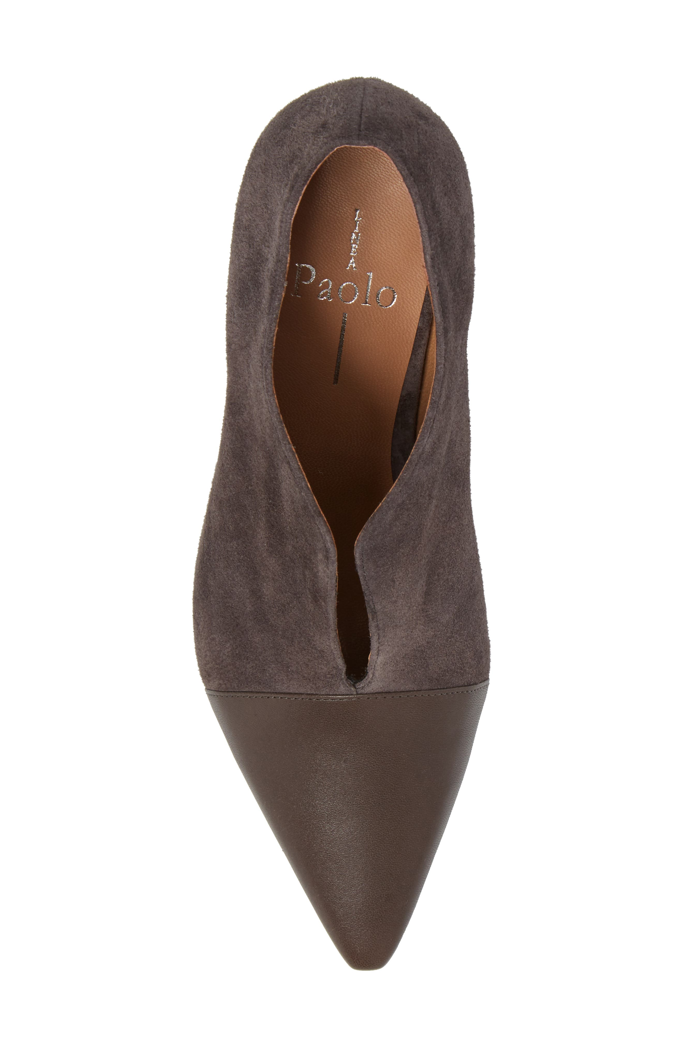 Pointy Toe Bootie,                             Alternate thumbnail 5, color,                             Ash Suede
