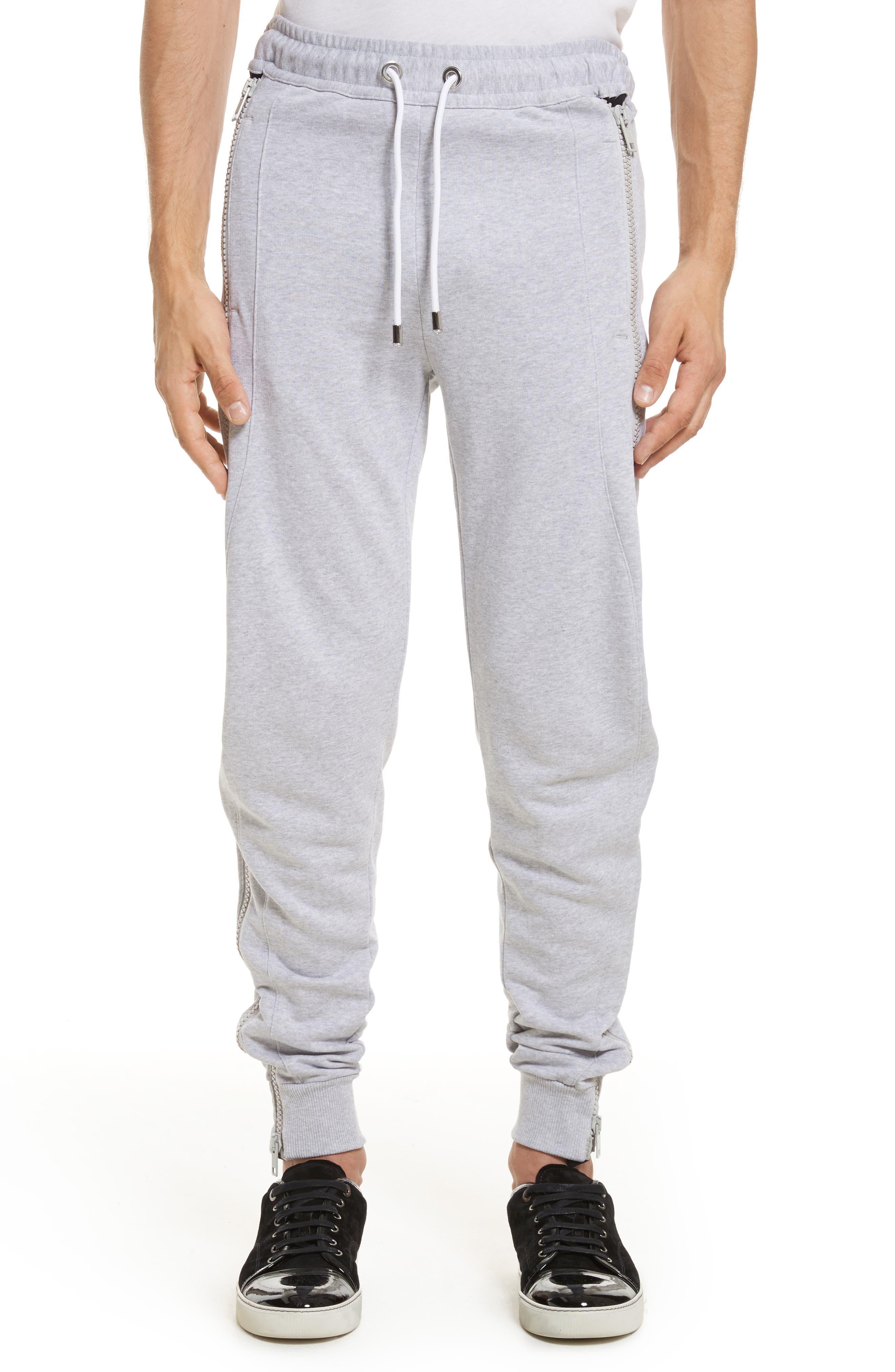 VERSUS by Versace Side Zip Sweatpants,                         Main,                         color, Grey