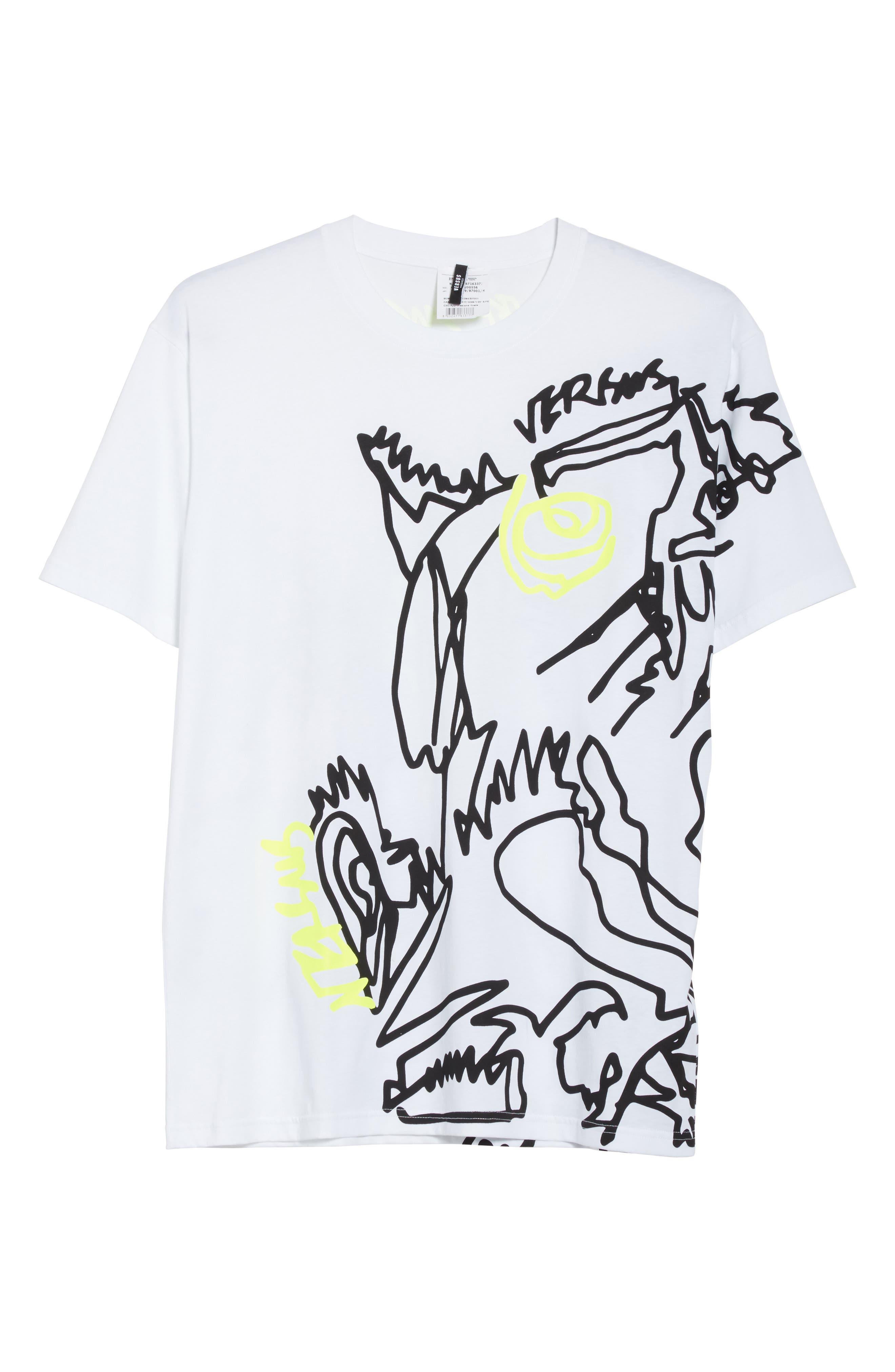 Alternate Image 6  - VERSUS by Versace Scribble Print T-Shirt