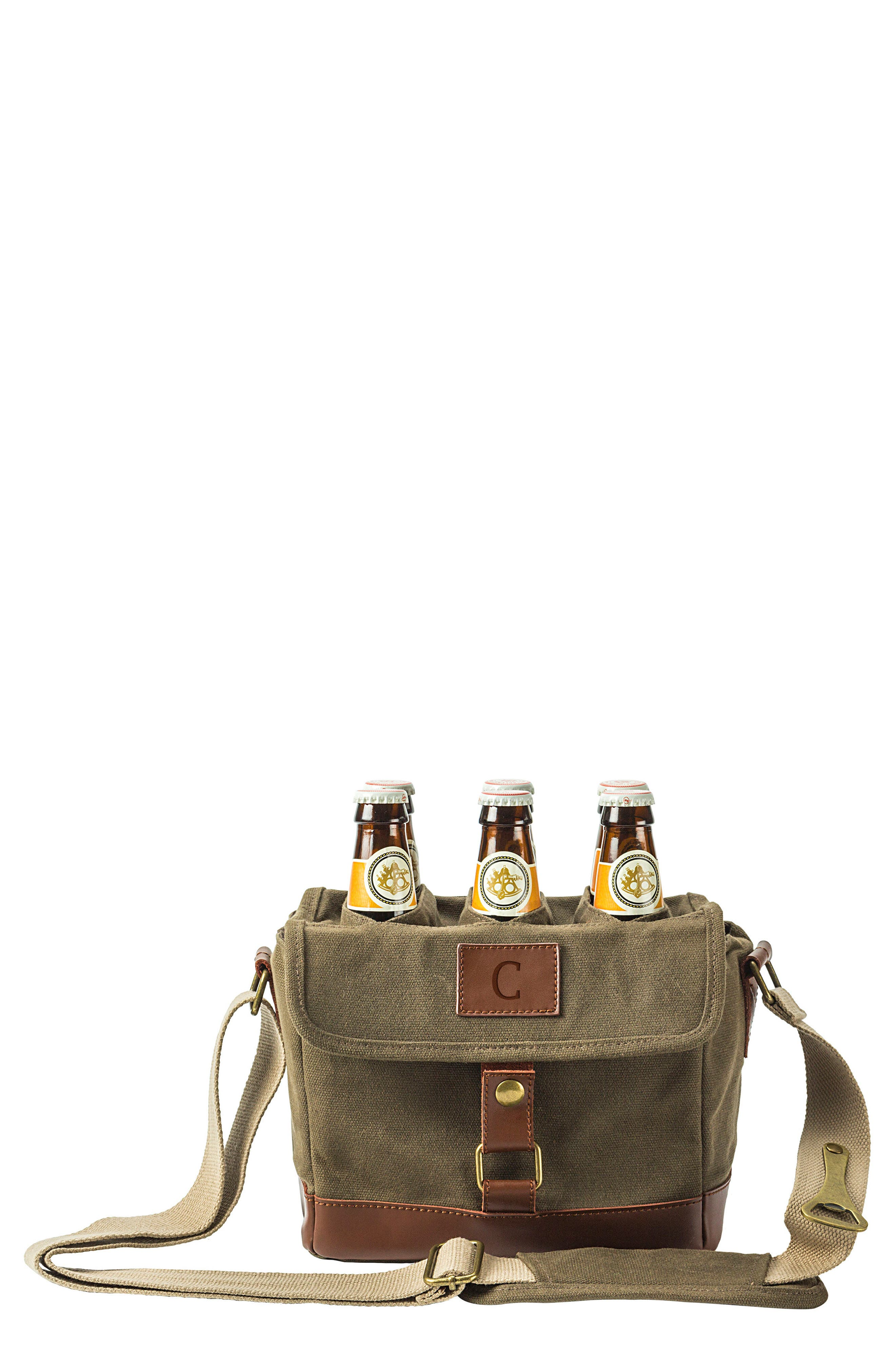 Alternate Image 1 Selected - Cathy's Concepts Monogram 6-Bottle Beer Cooler