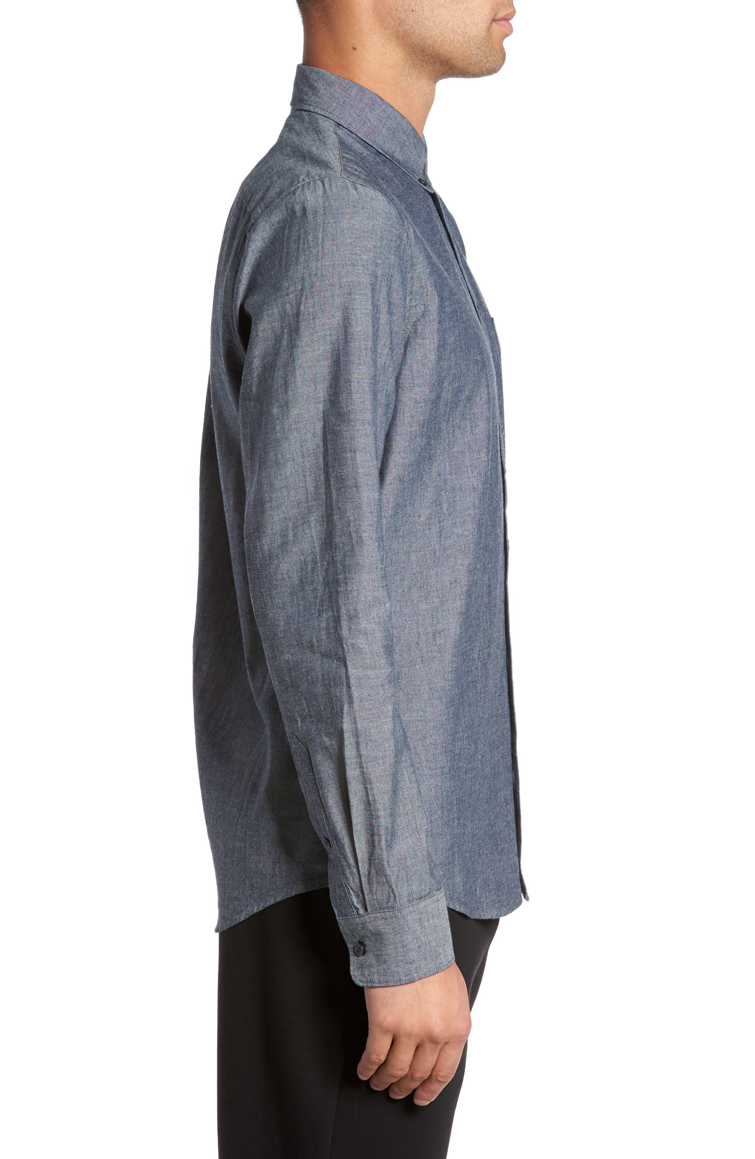 Alternate Image 3  - Everlane The Slim Fit Chambray Shirt