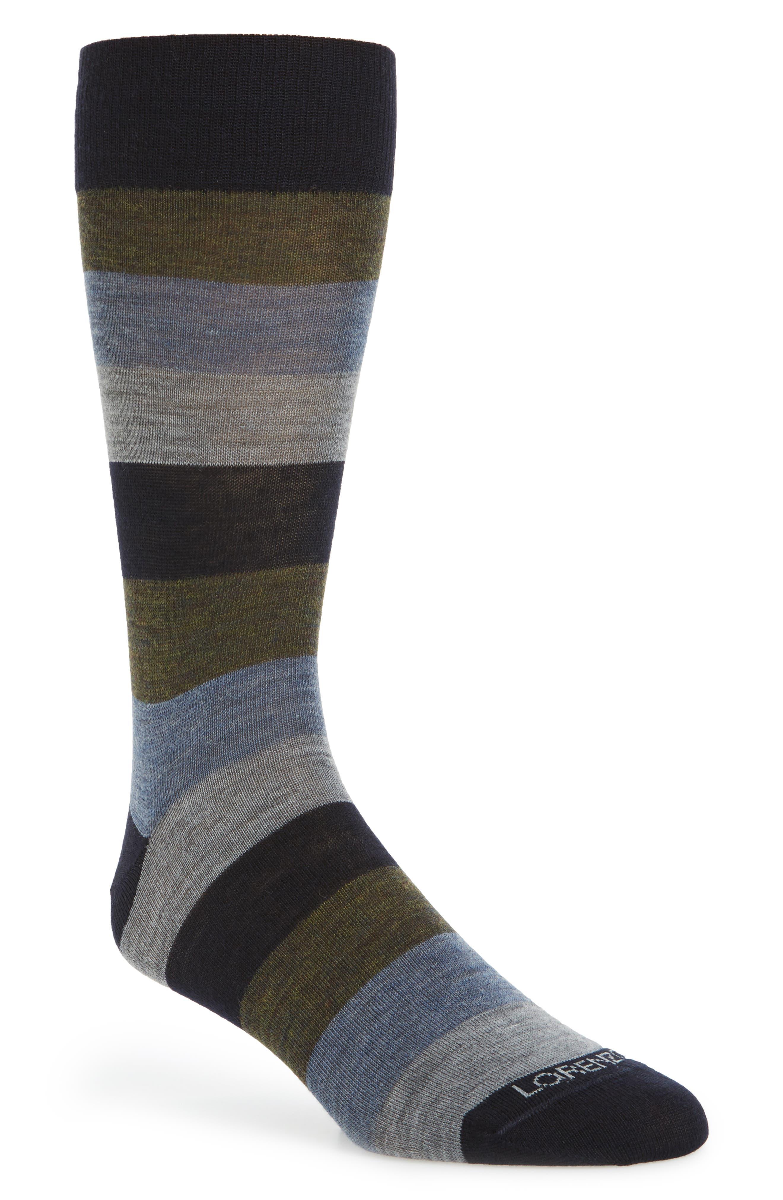 Colorblock Socks,                         Main,                         color, Navy