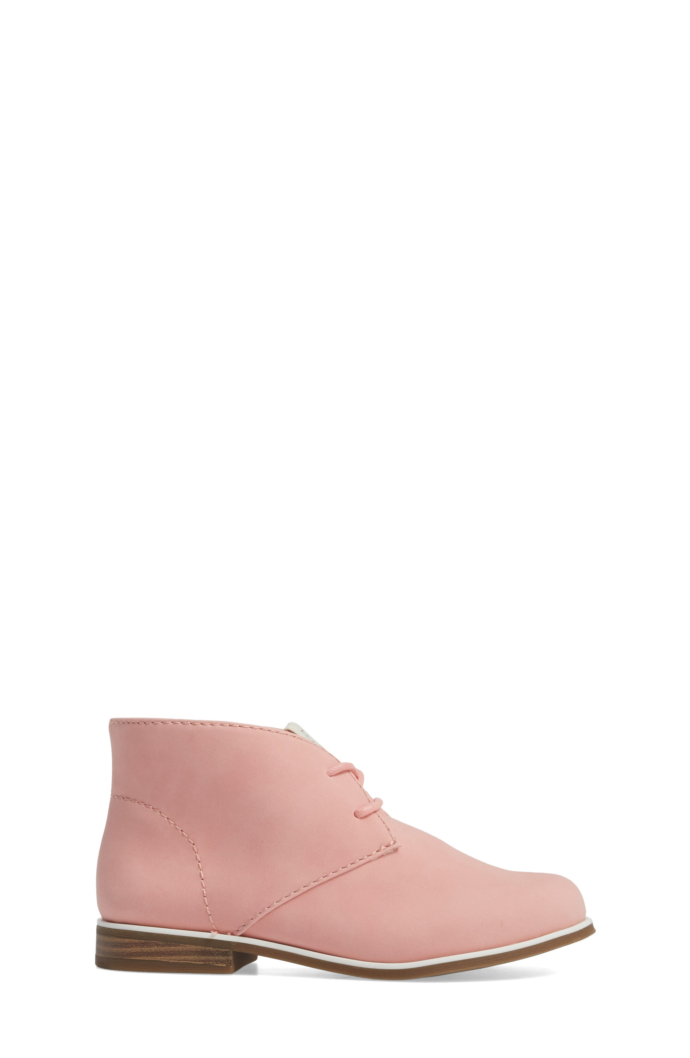 Korie Chukka Bootie,                             Alternate thumbnail 3, color,                             Poppy Pink Suede