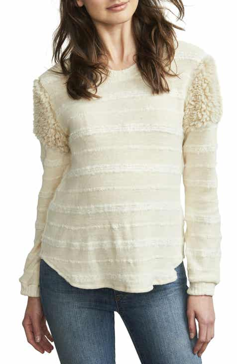 26846786f3038 Maternal America Fuzzy Shoulder Textured Maternity Sweater