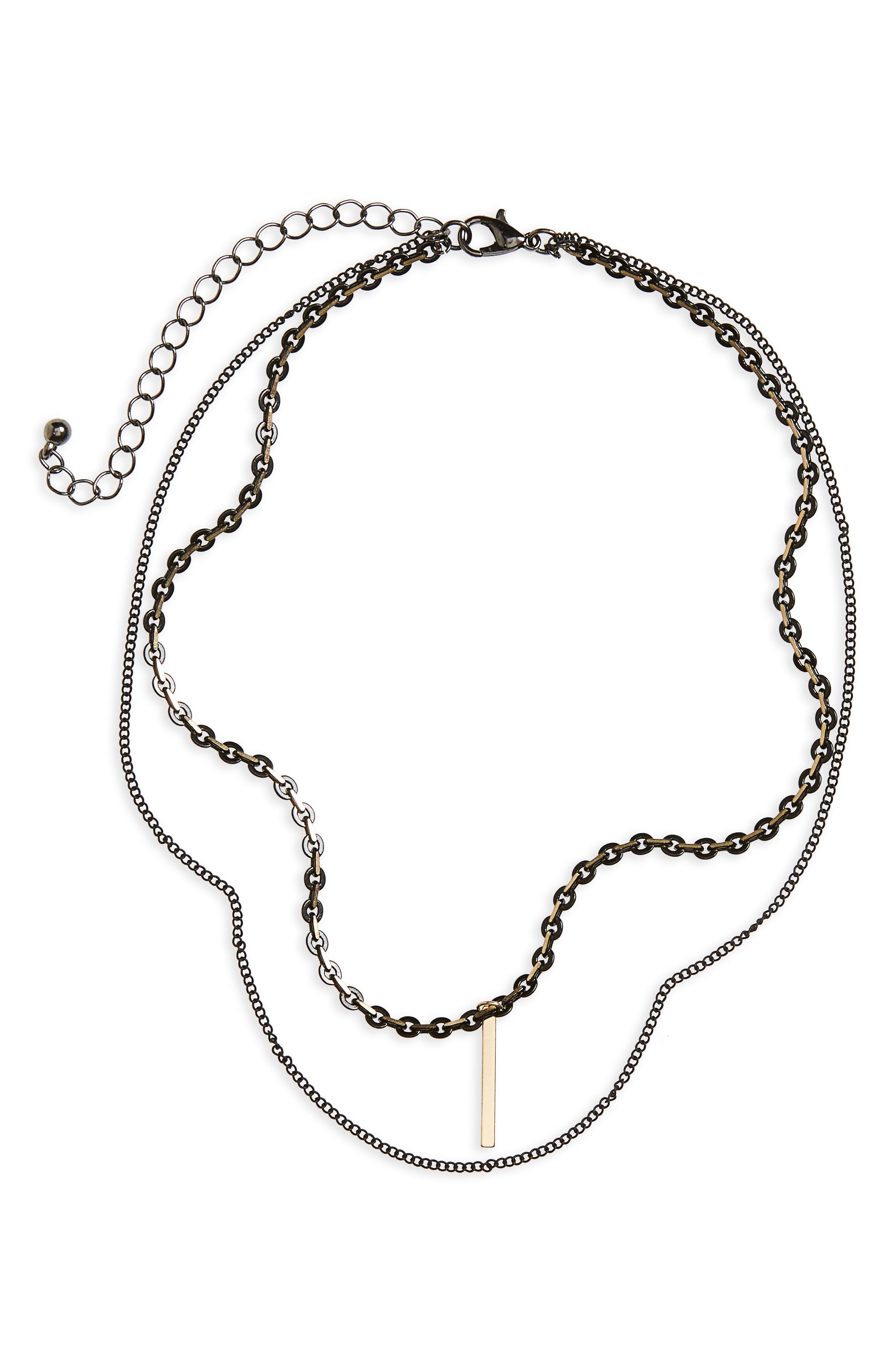 BP. Layered Bar Charm Necklace