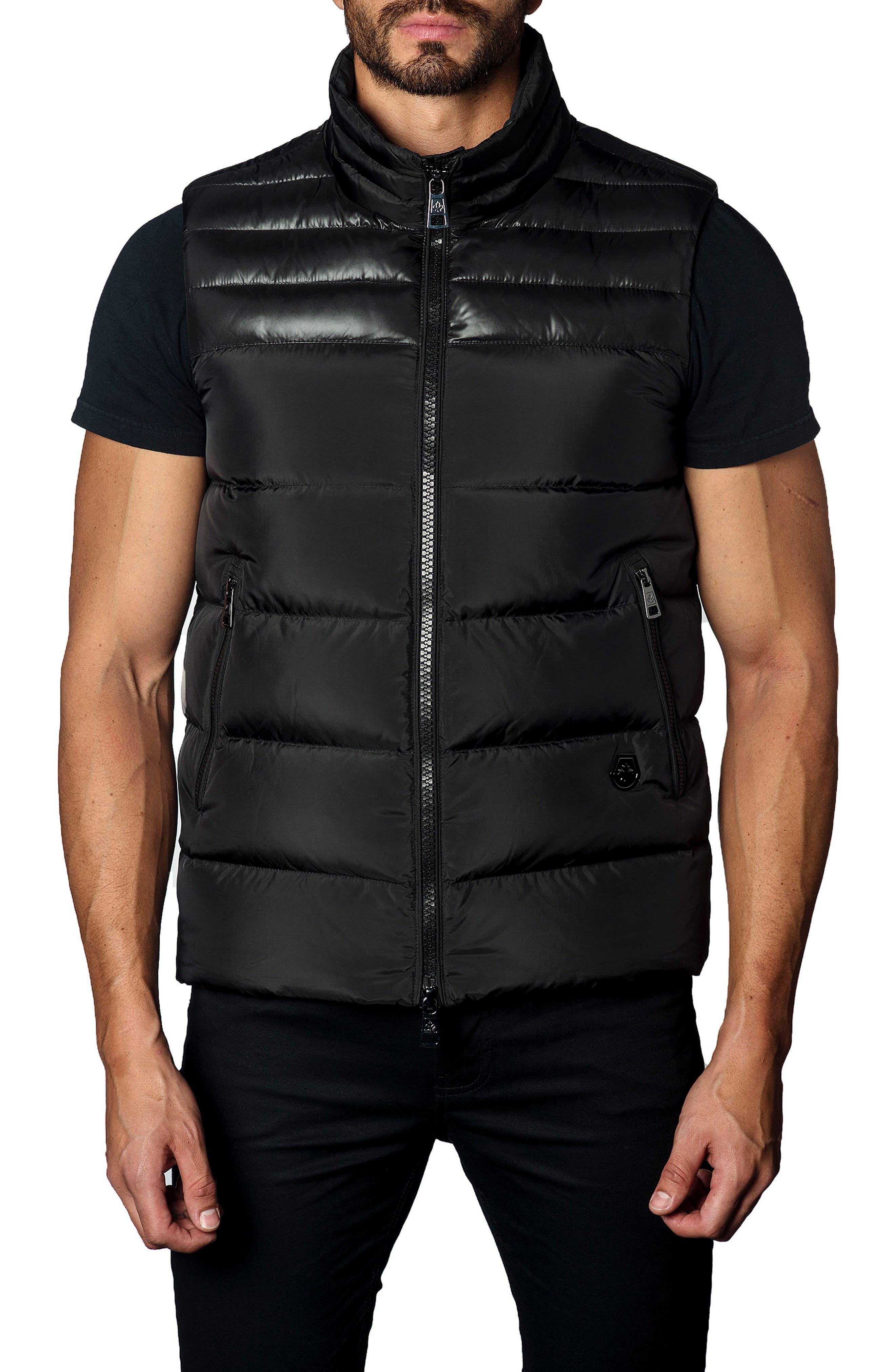 Down Puffer Vest,                         Main,                         color, Black