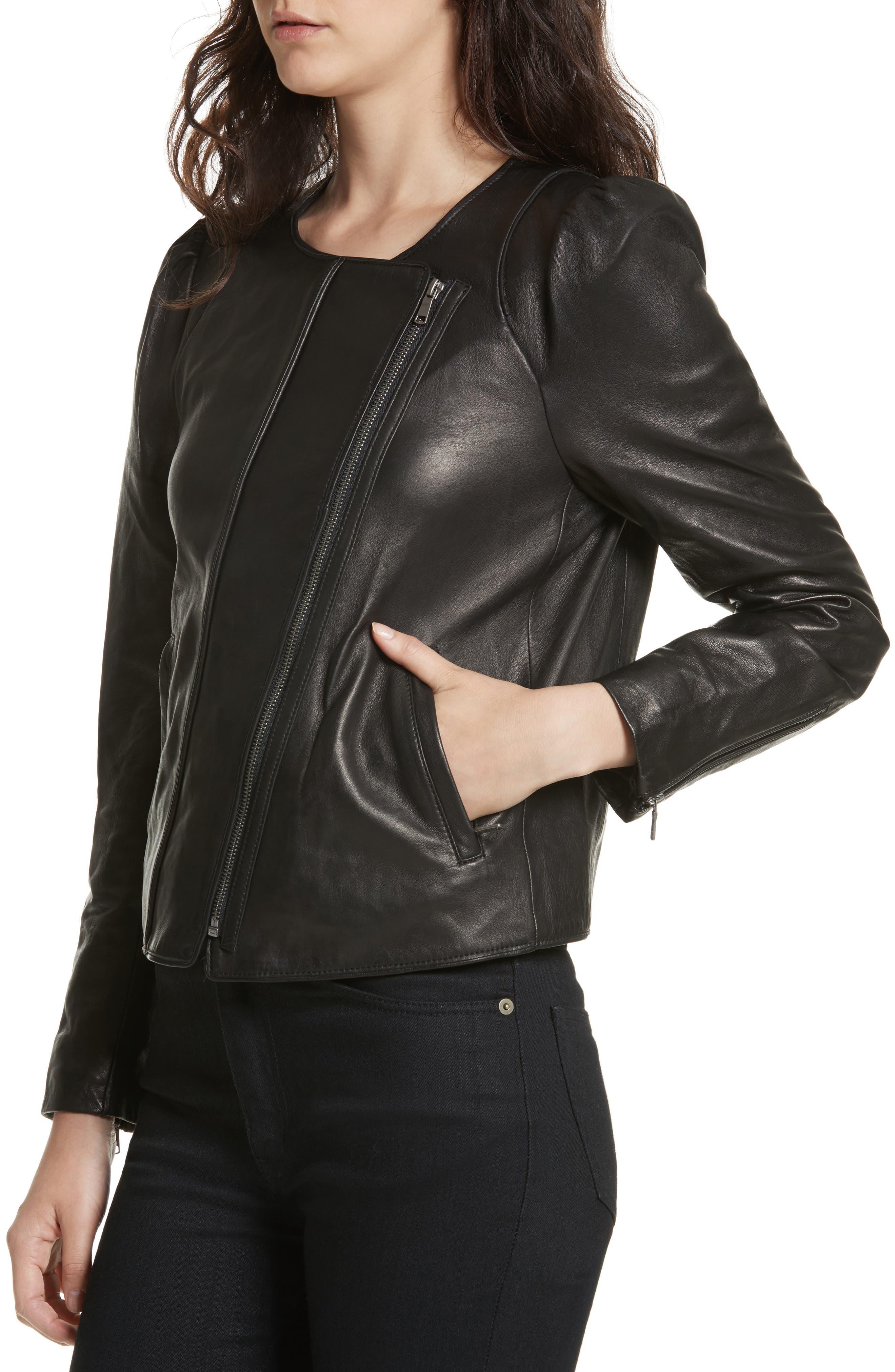 Alternate Image 4  - Derica Leather Jacket