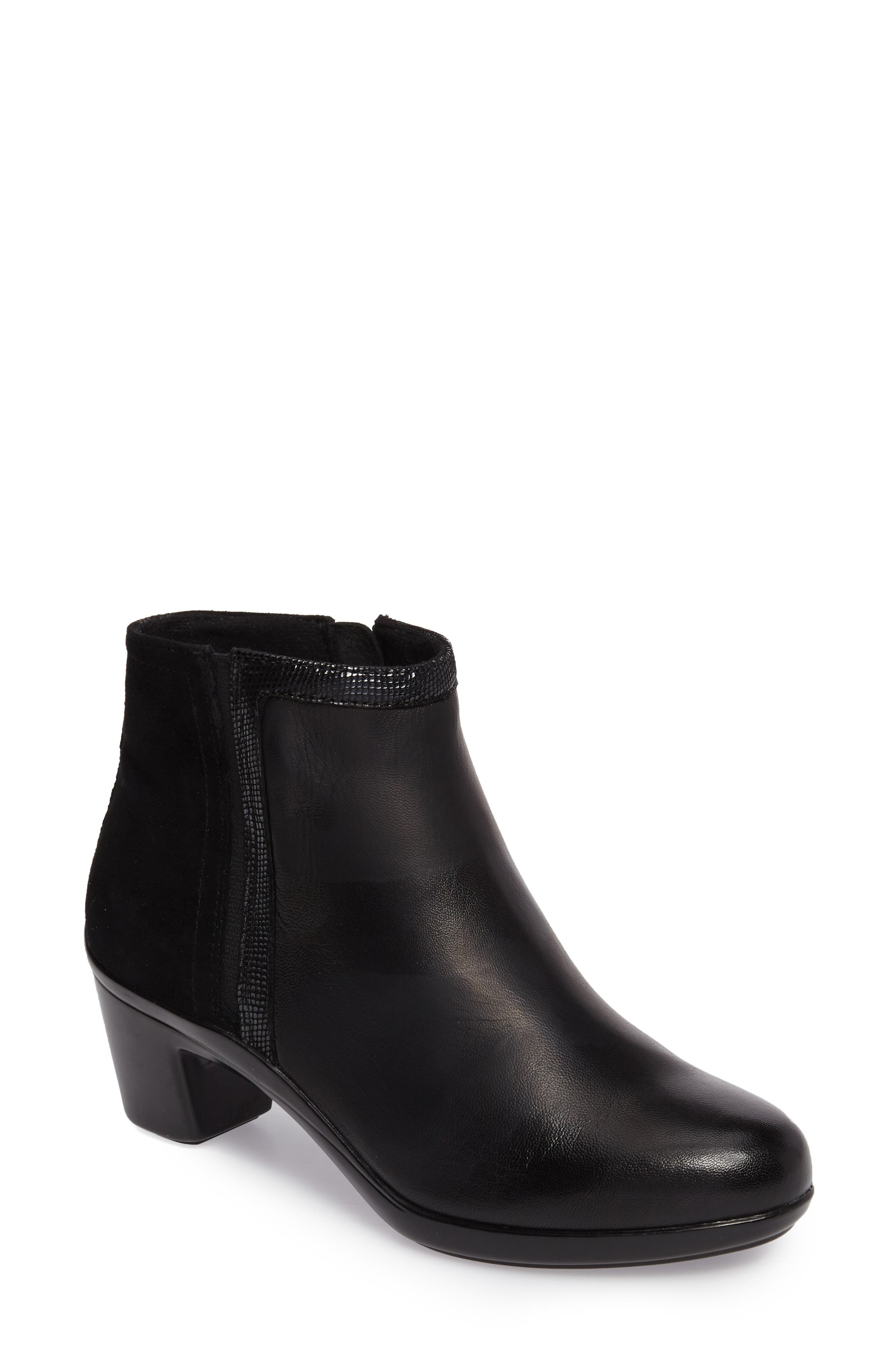 Lexee Wateproof Bootie,                         Main,                         color, Black Leather