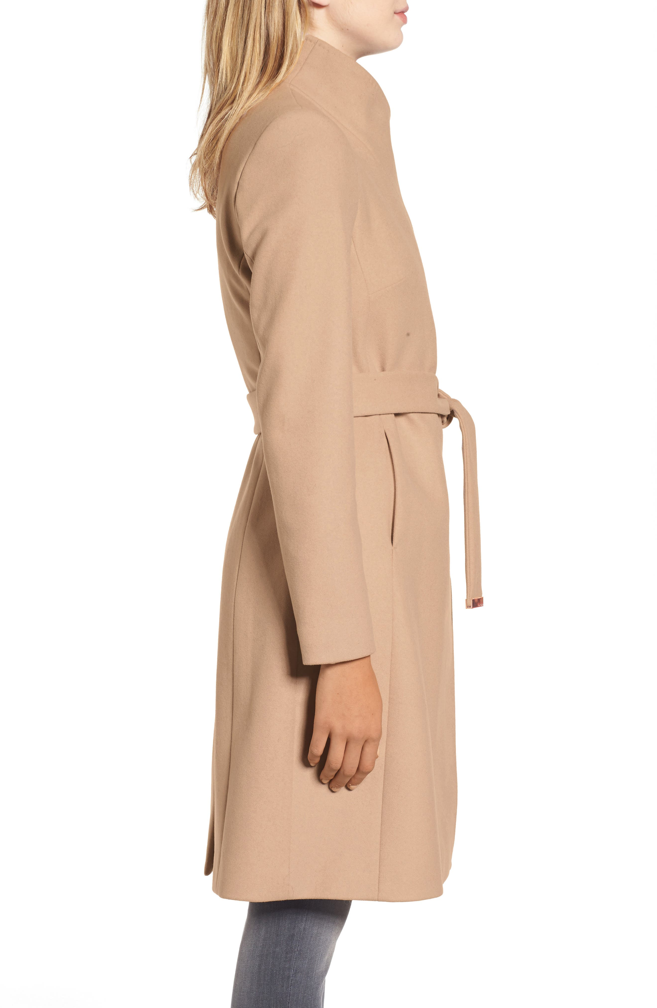 Alternate Image 3  - Ted Baker London Wool Blend Long Wrap Coat