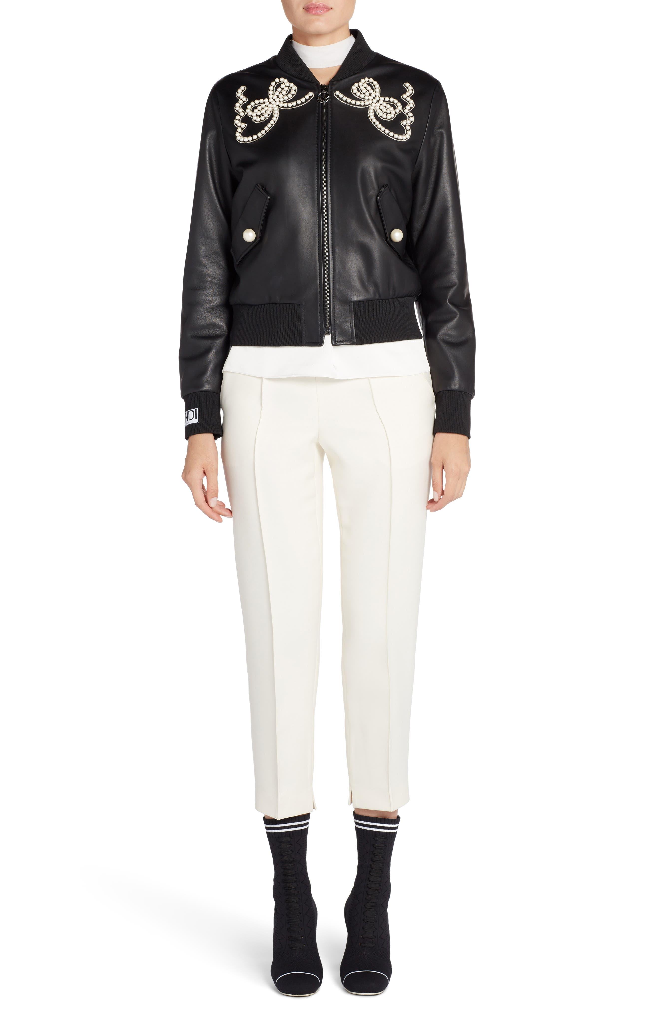 Alternate Image 8  - Fendi Wool & Silk Gazar Crop Pants