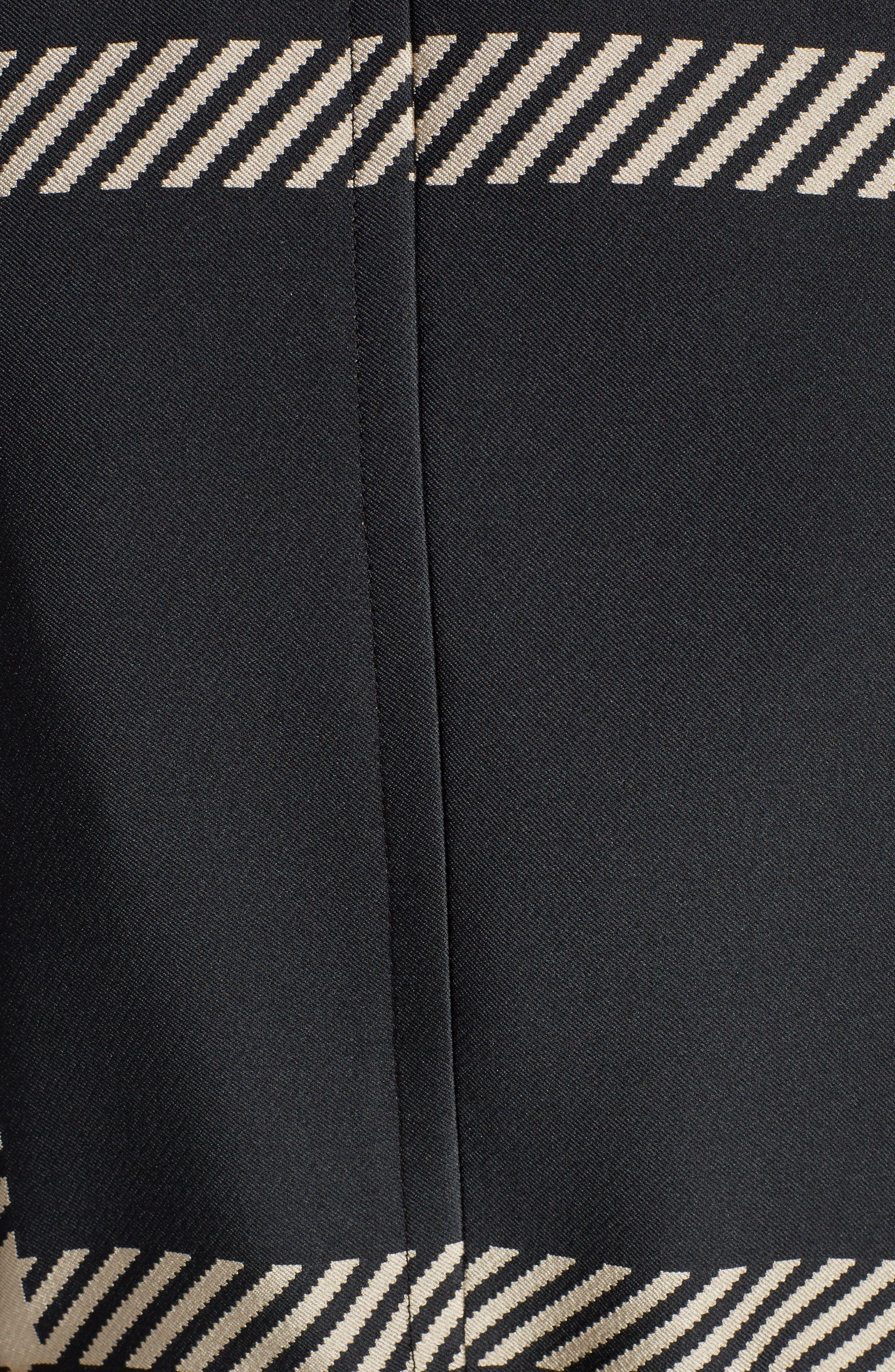 Macro Check Coat,                             Alternate thumbnail 5, color,                             Black