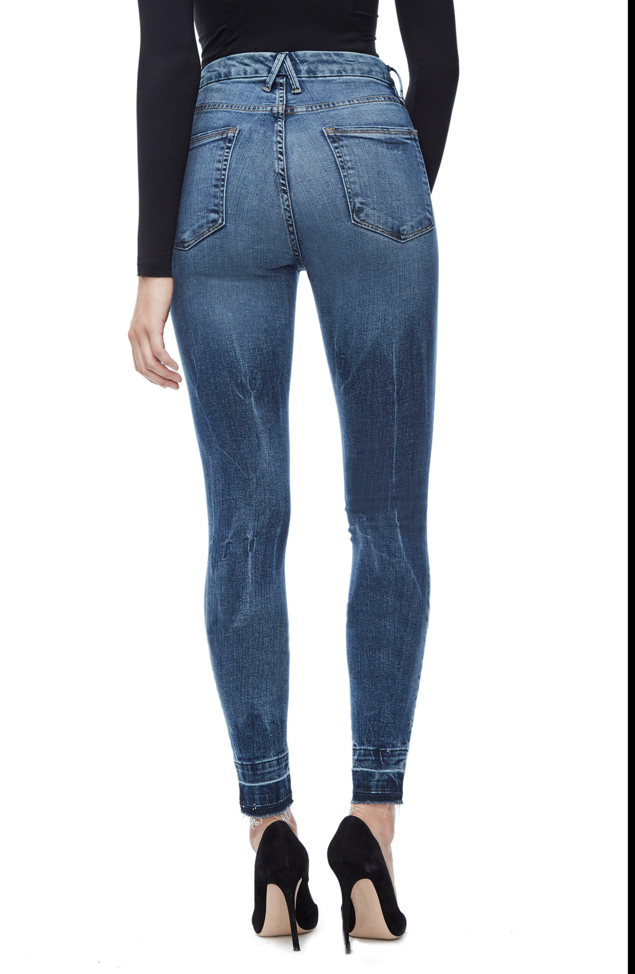Good Legs High Waist Skinny Jeans,                             Alternate thumbnail 2, color,                             Blue 097