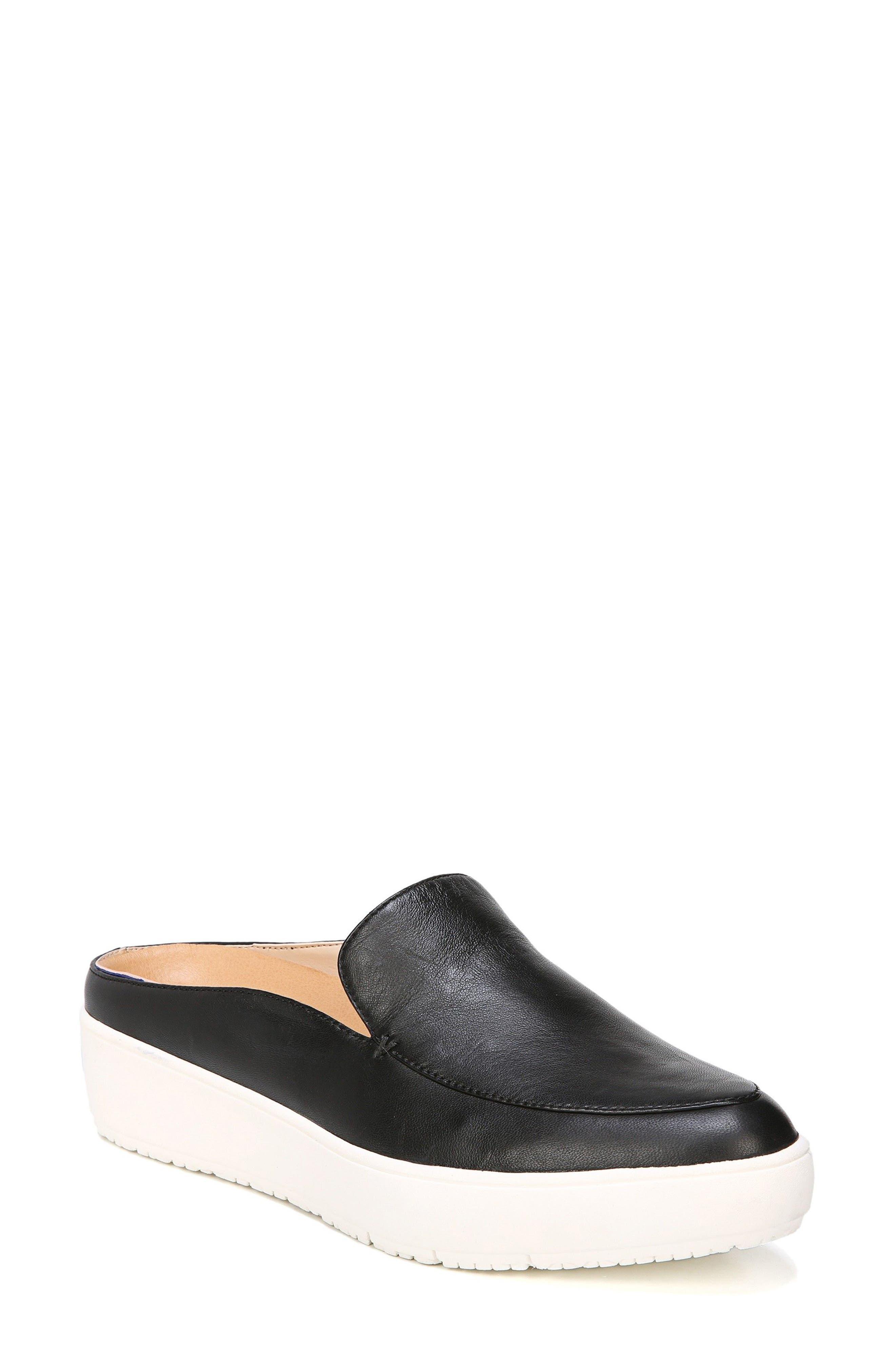 Gia Mule,                         Main,                         color, Black Leather