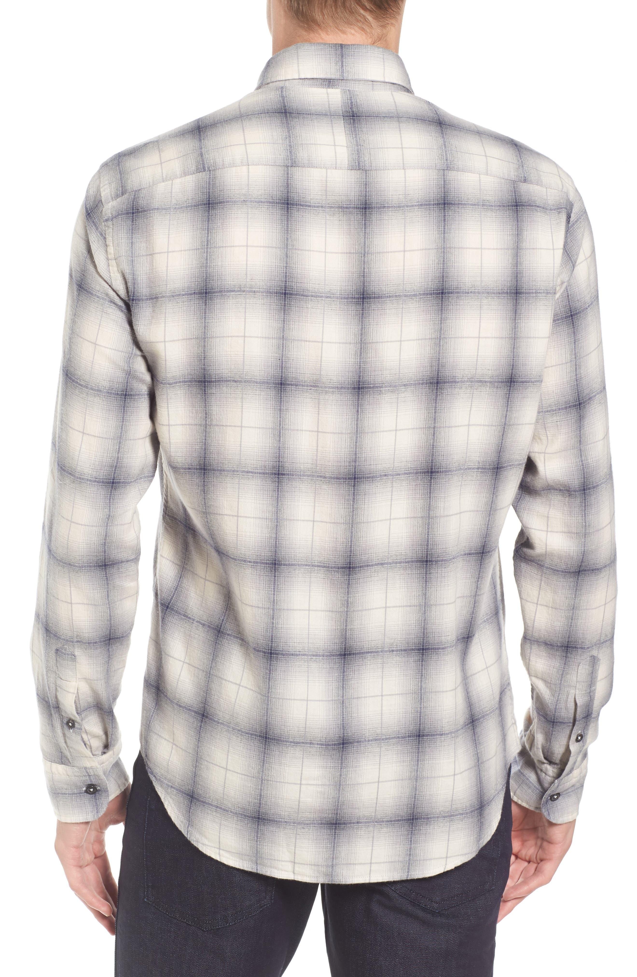 Kirby Slim Fit Plaid Flannel Shirt,                             Alternate thumbnail 2, color,                             Grey/ Blue