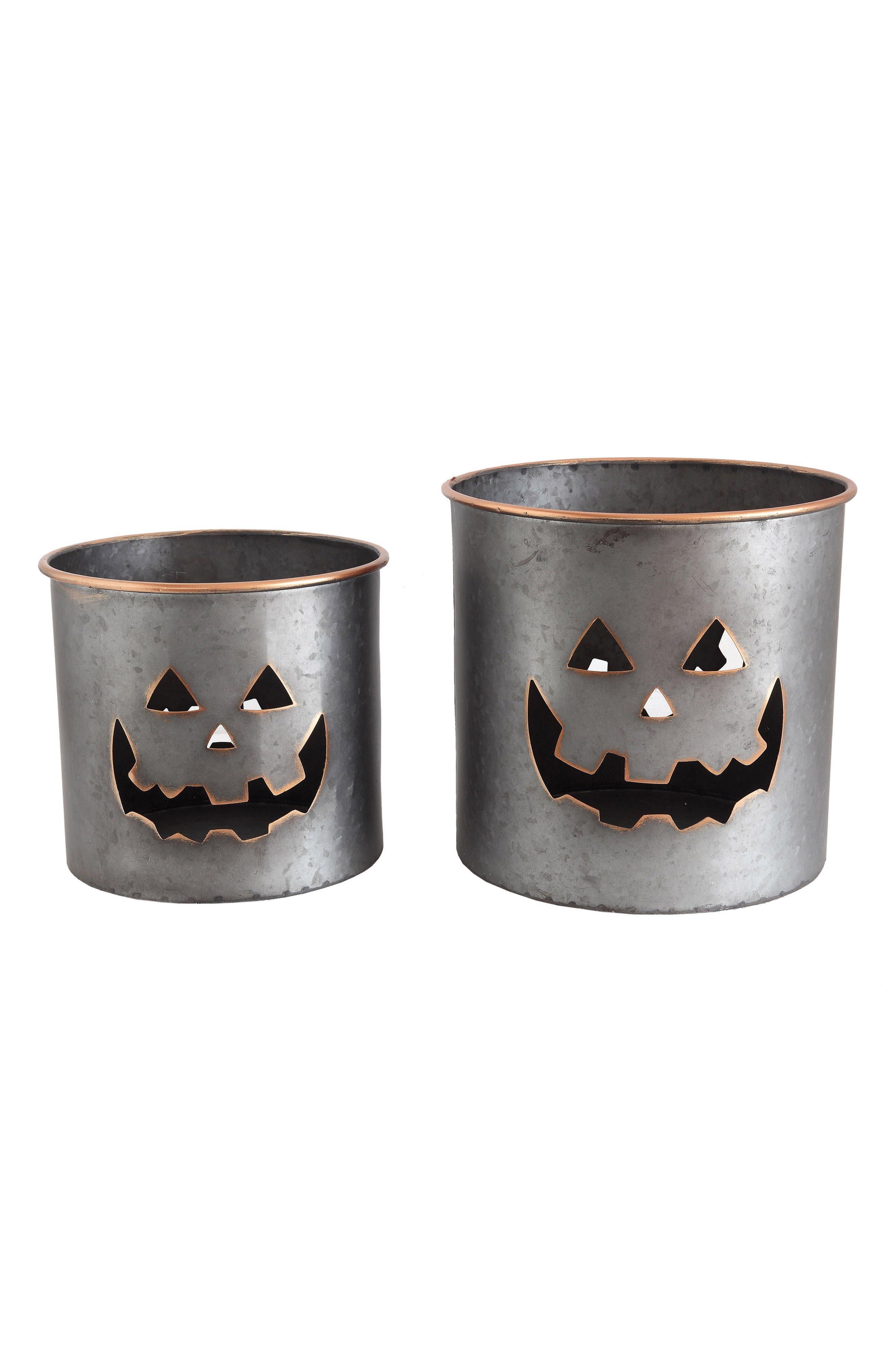 Creative Co-Op Pumpkin Metal Bucket