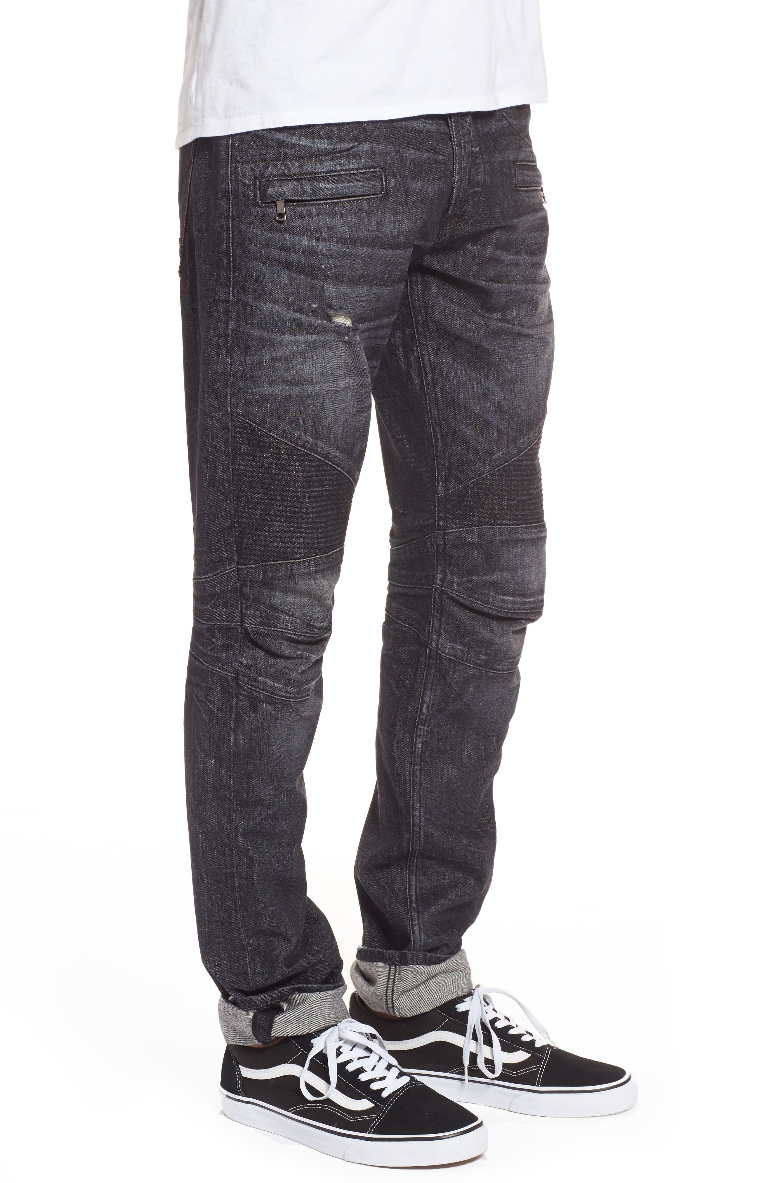 Alternate Image 3  - Hudson Jeans Blinder Biker Moto Skinny Fit Jeans (Damage)